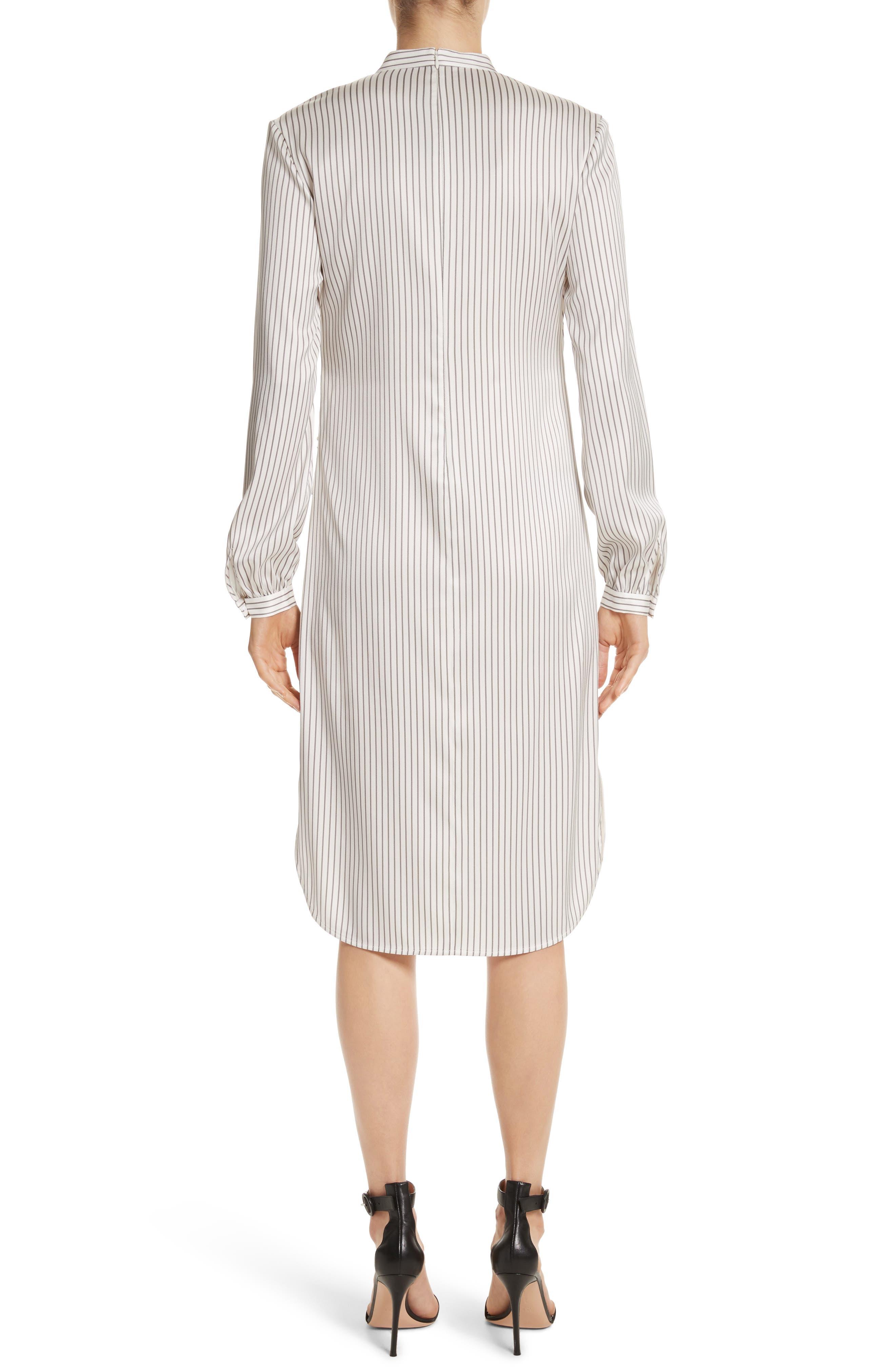 Vertical Stripe Stretch Silk Dress,                             Alternate thumbnail 2, color,                             270