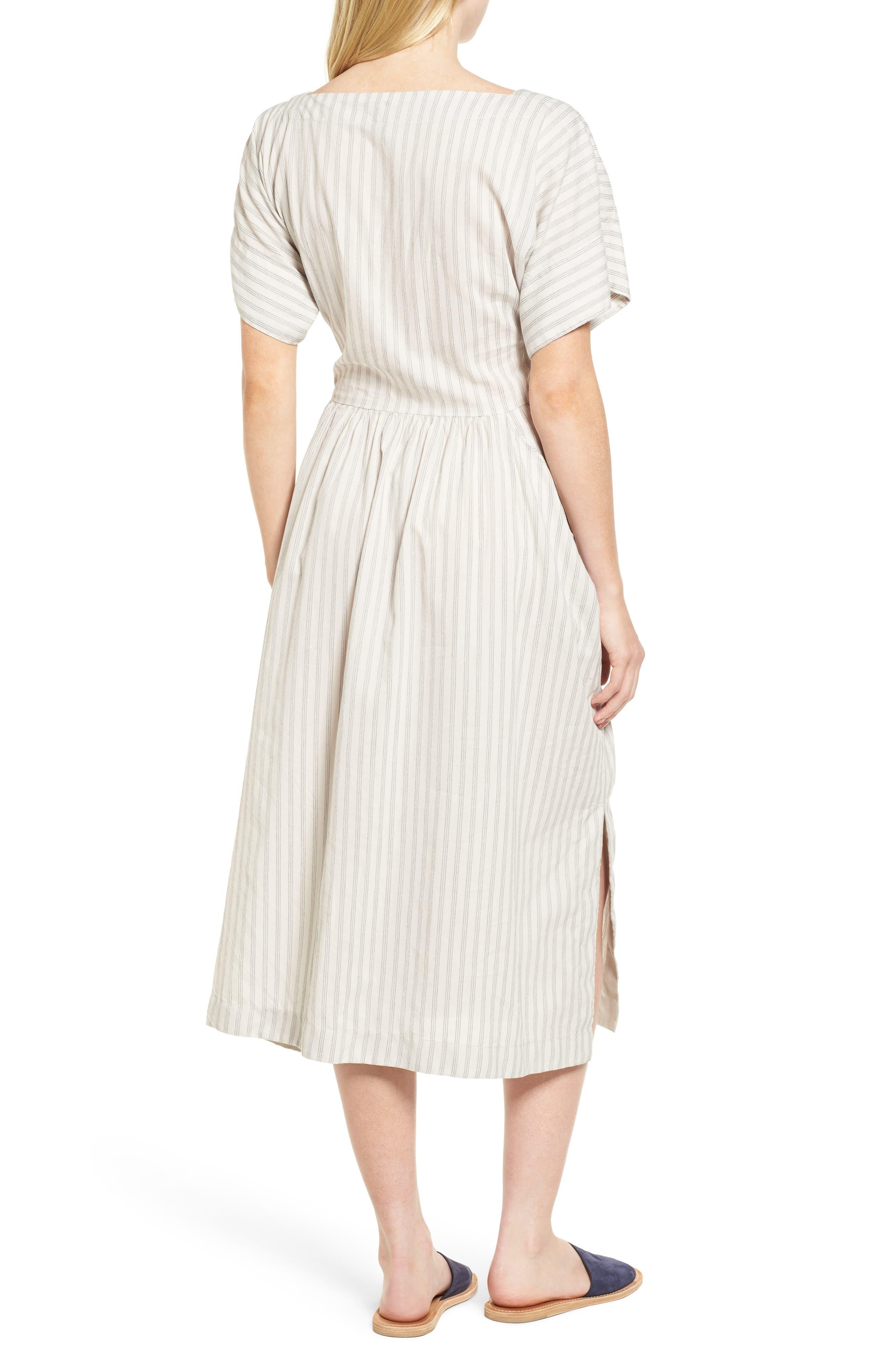 Stripe Midi Dress,                             Alternate thumbnail 2, color,                             158