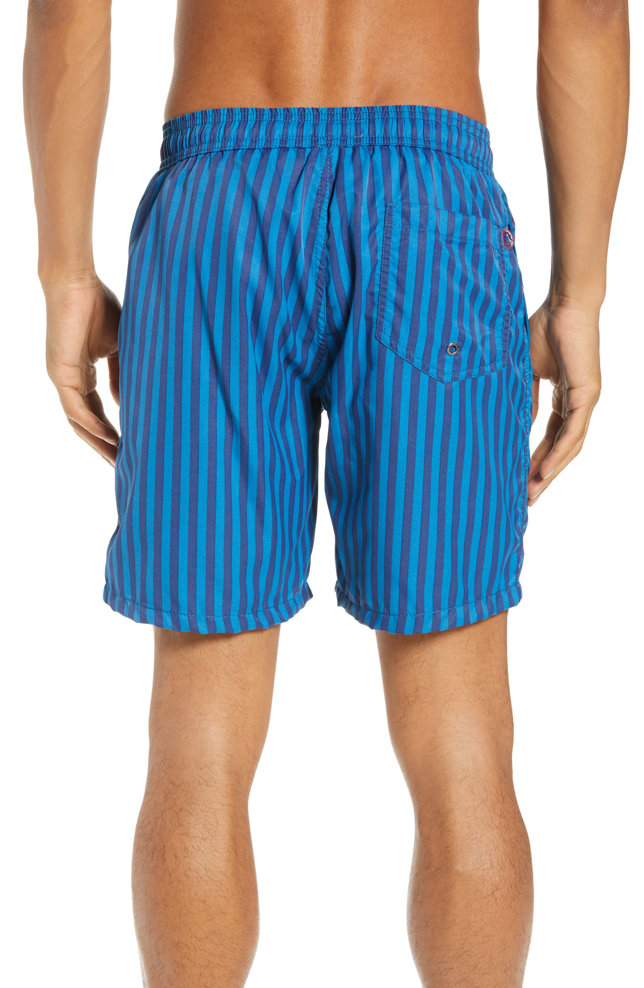 Mr. Swim Cabana Stripe Swim Trunks,                             Alternate thumbnail 2, color,                             NAVY/ ROYAL