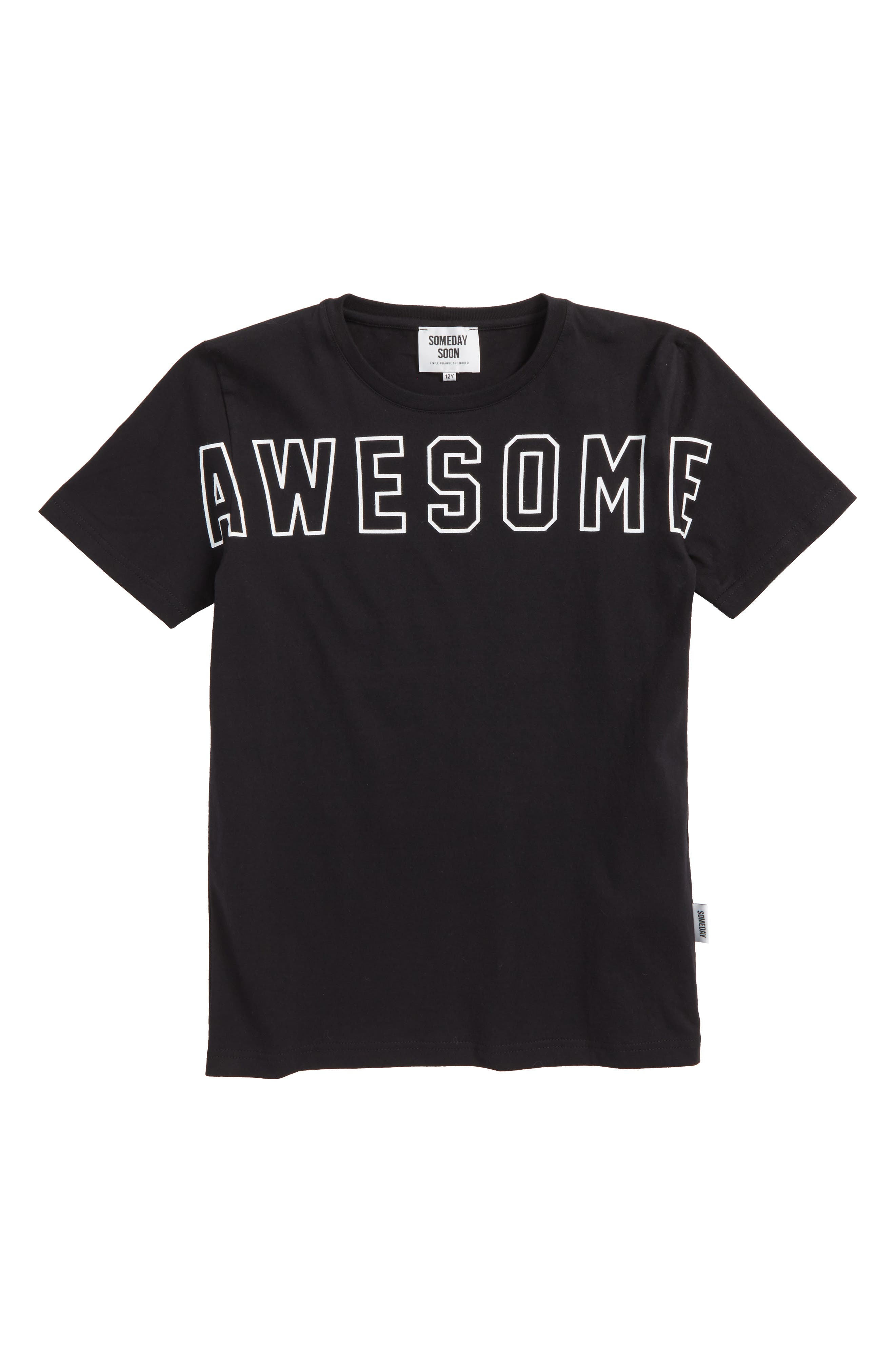 Dixon Awesome Organic Cotton T-Shirt,                             Main thumbnail 1, color,                             001