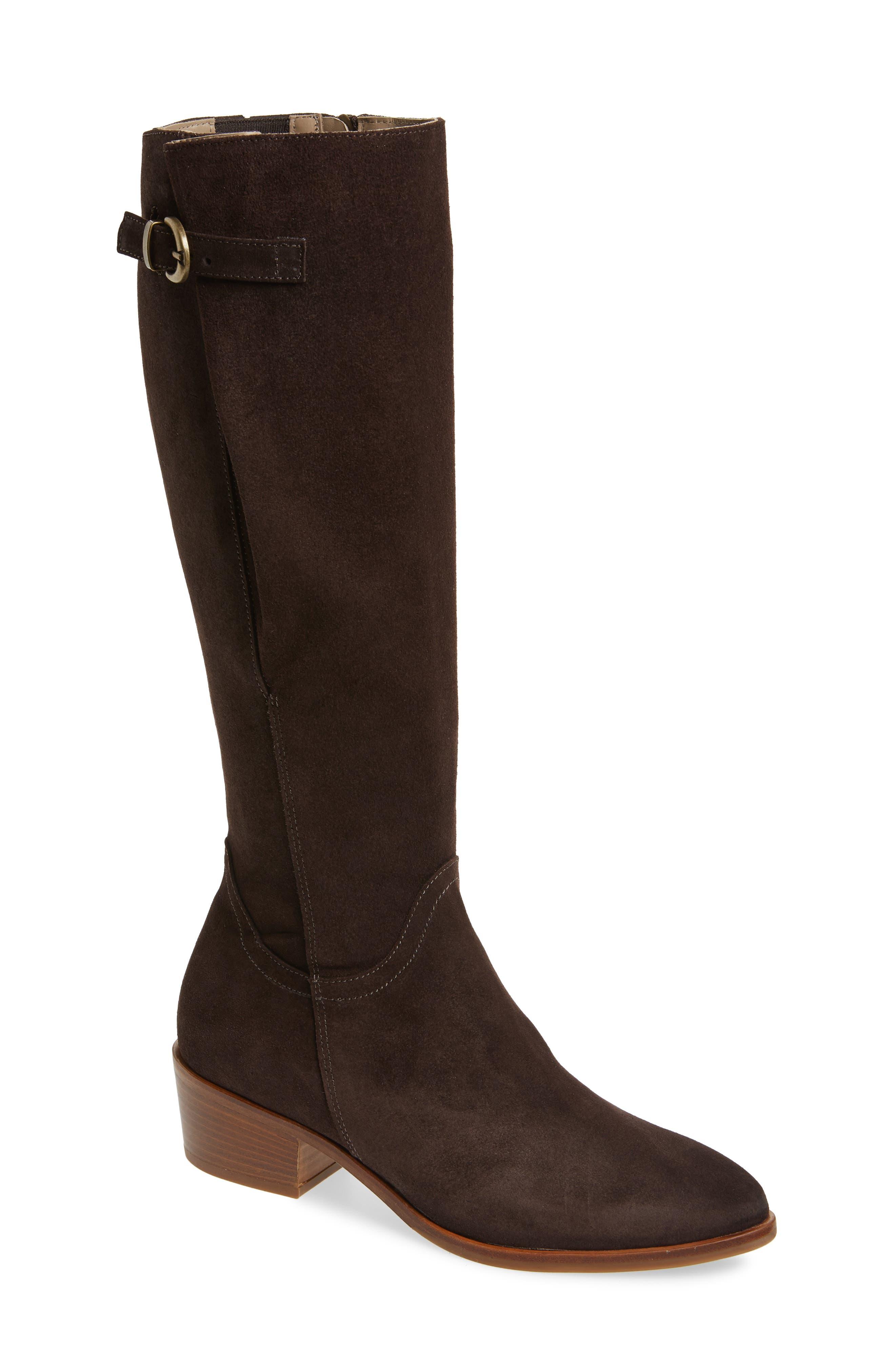 Italeau Tosca Waterproof Knee High Boot, Brown