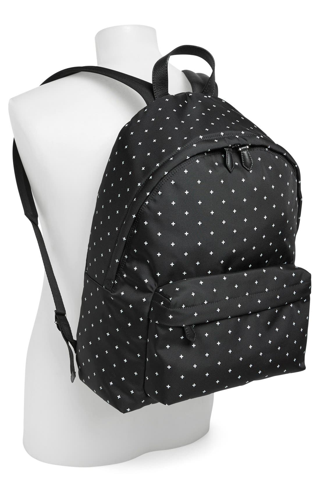 Canvas Backpack,                             Alternate thumbnail 4, color,                             BLACK