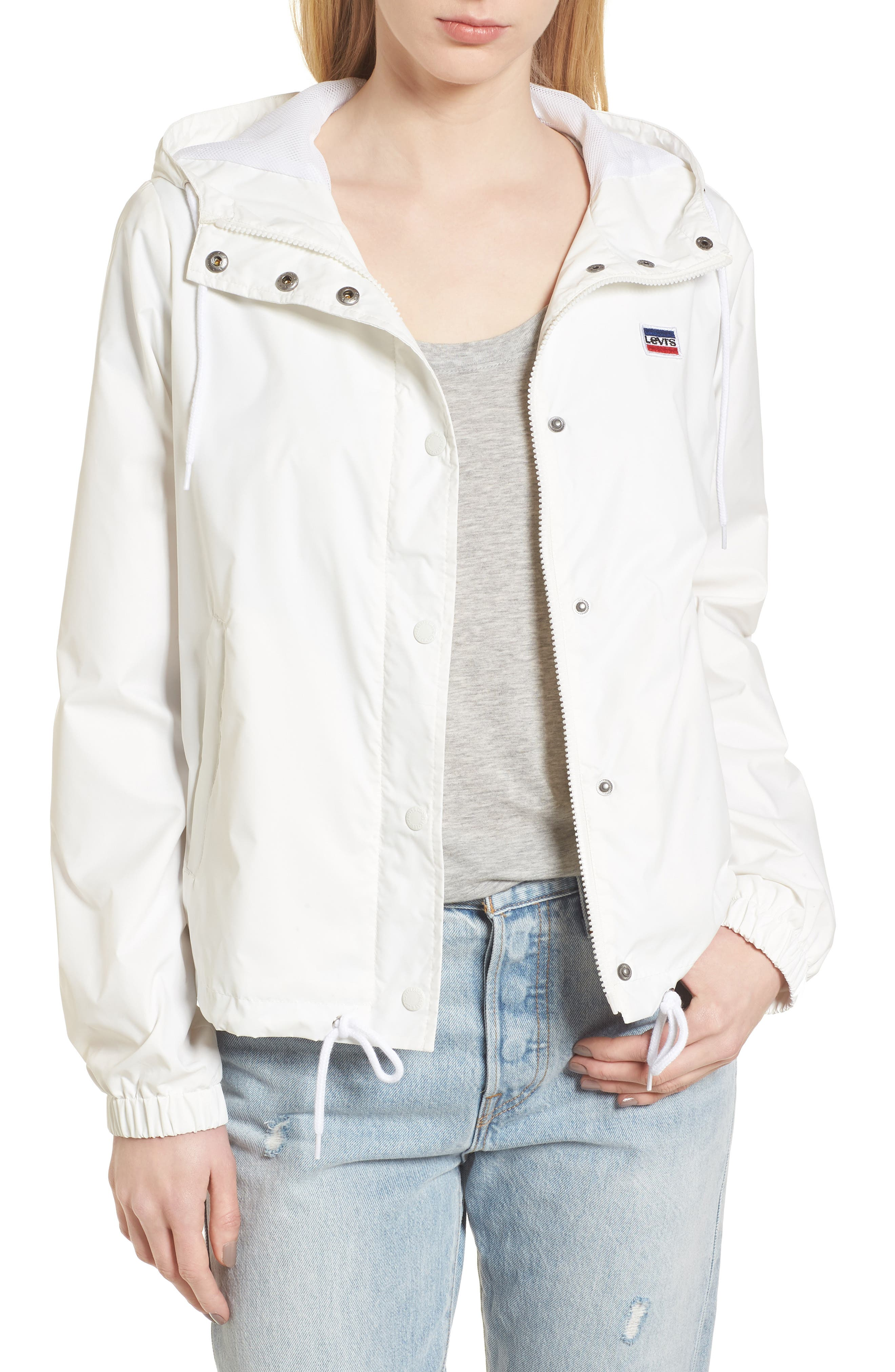 Retro Hooded Coach's Jacket,                             Main thumbnail 1, color,                             100