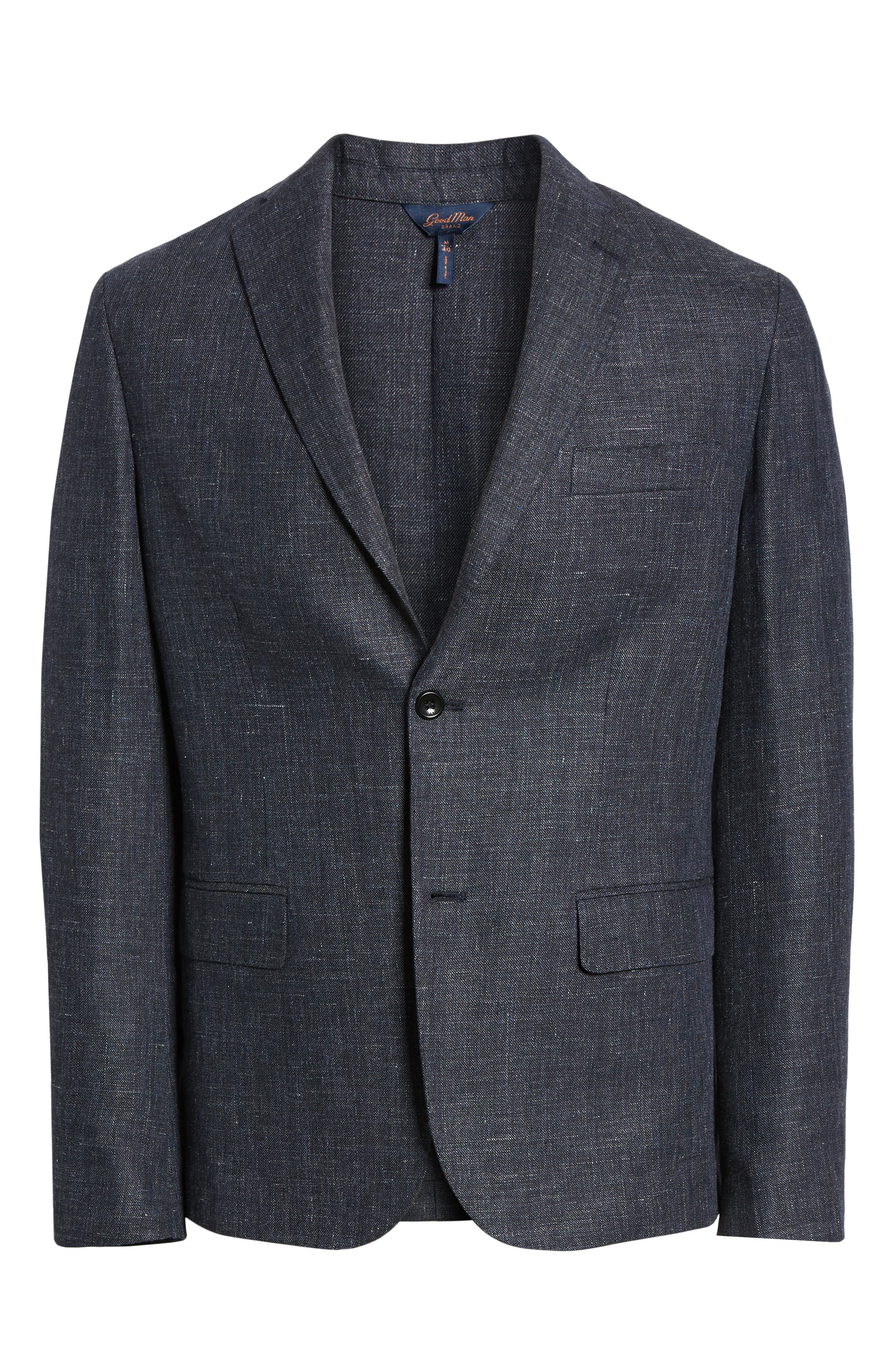 Slim Fit Unconstructed Wool & Linen Blazer,                             Alternate thumbnail 5, color,                             410