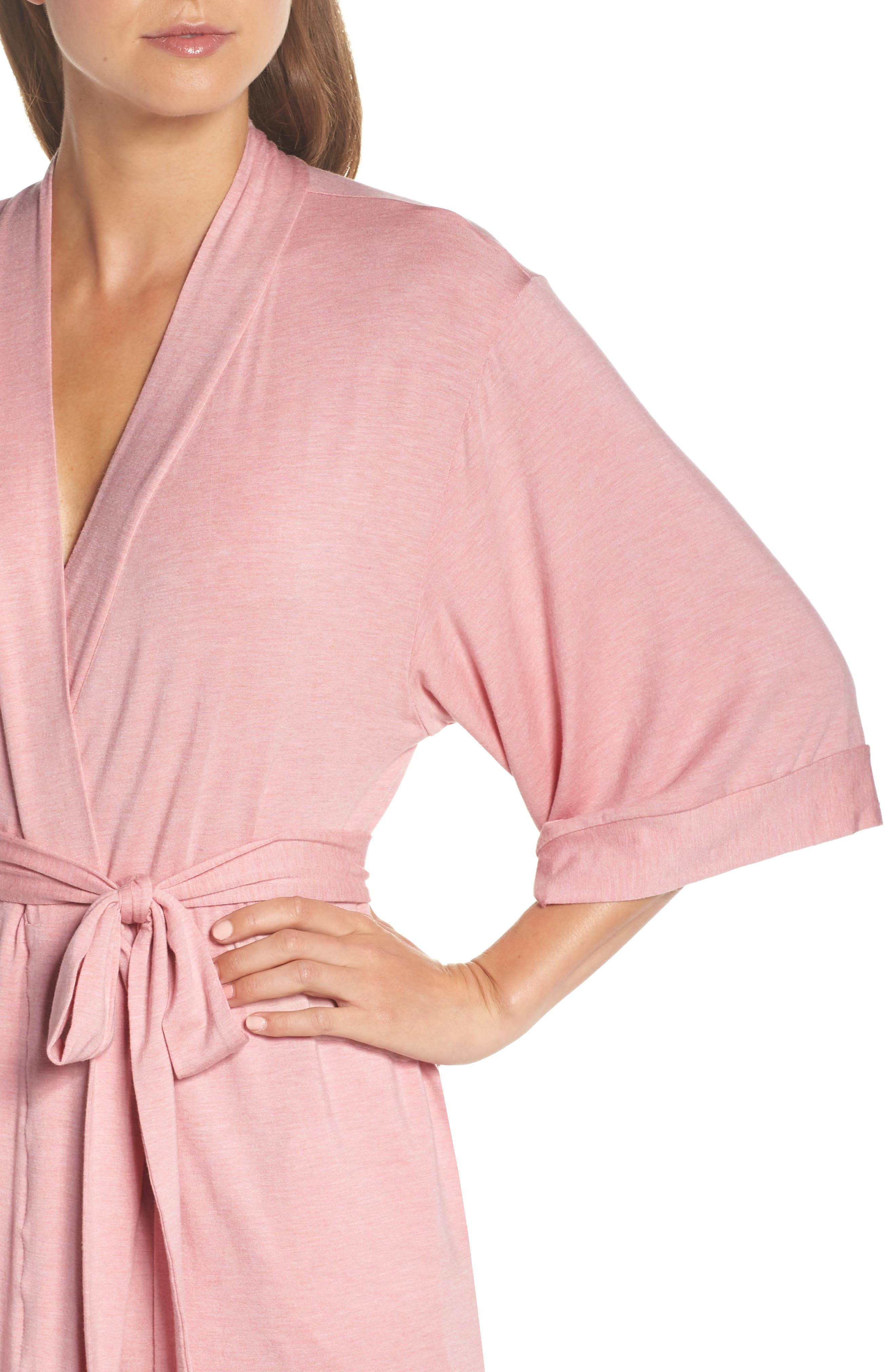 Short Robe,                             Alternate thumbnail 4, color,                             VINTAGE PINK