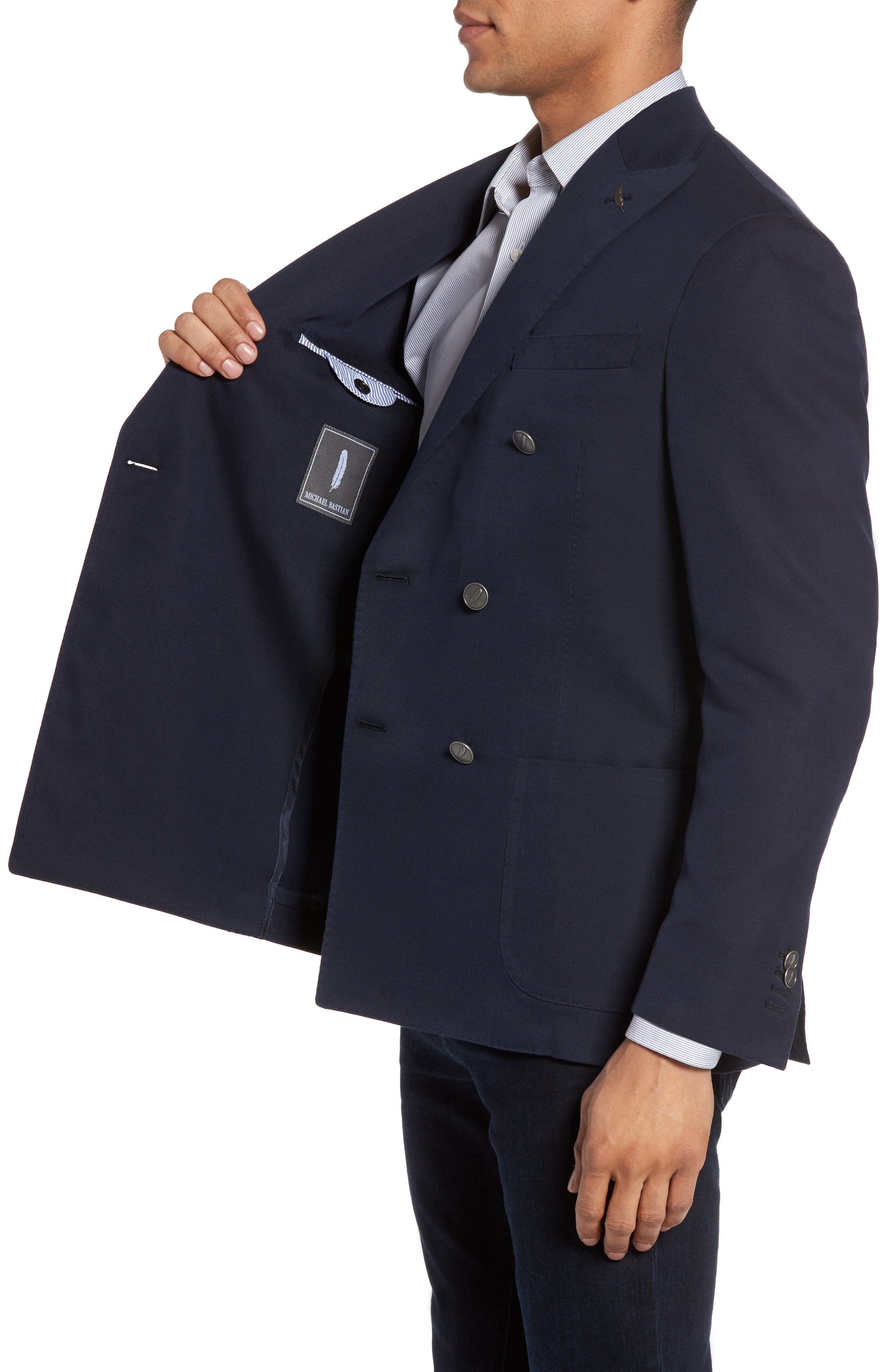 Classic Fit Double Breasted Blazer,                             Alternate thumbnail 3, color,