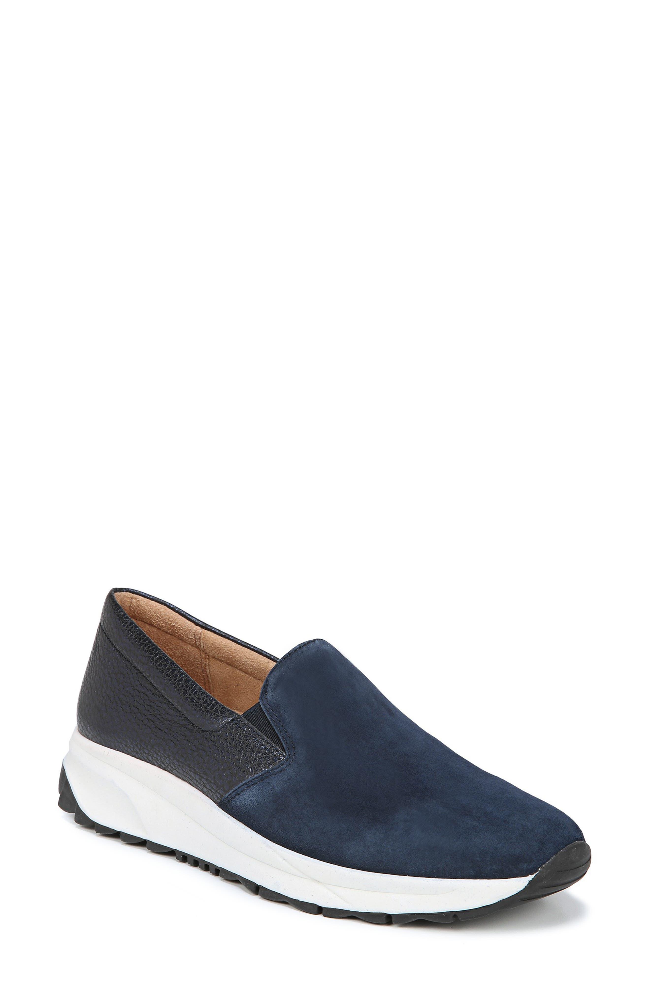 Selah Slip-On Sneaker,                         Main,                         color, INKY NAVY SUEDE