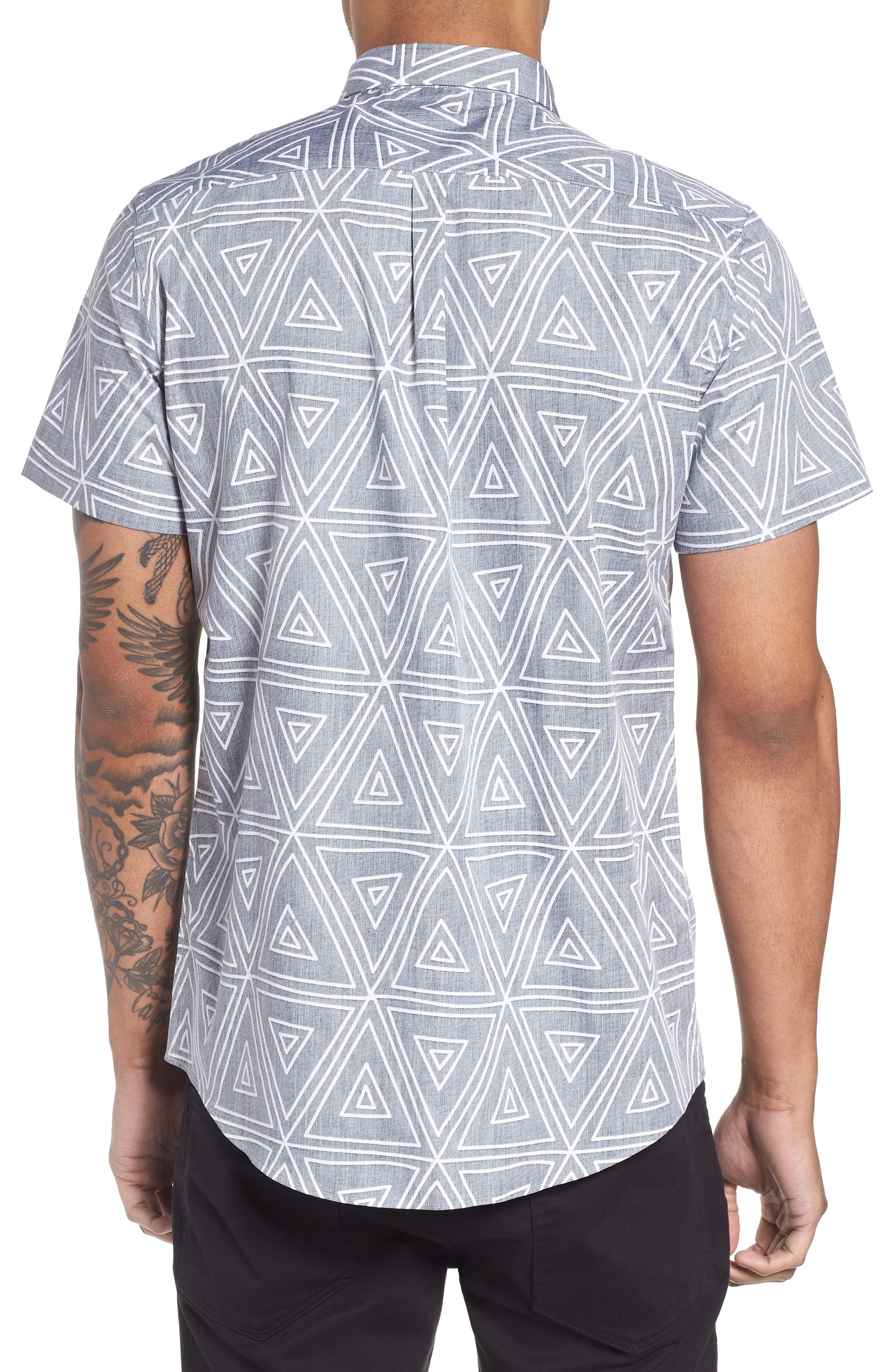Geometric Woven Short Sleeve Shirt,                             Alternate thumbnail 2, color,                             004