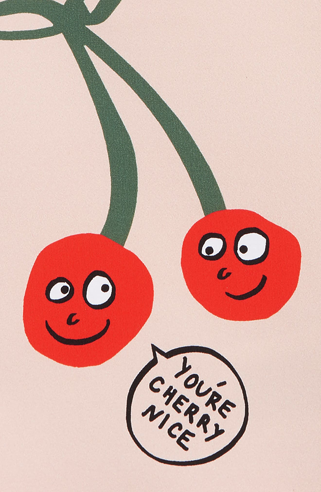 Stella McCartney Cherry Swim Top,                             Alternate thumbnail 2, color,                             5769 PINK