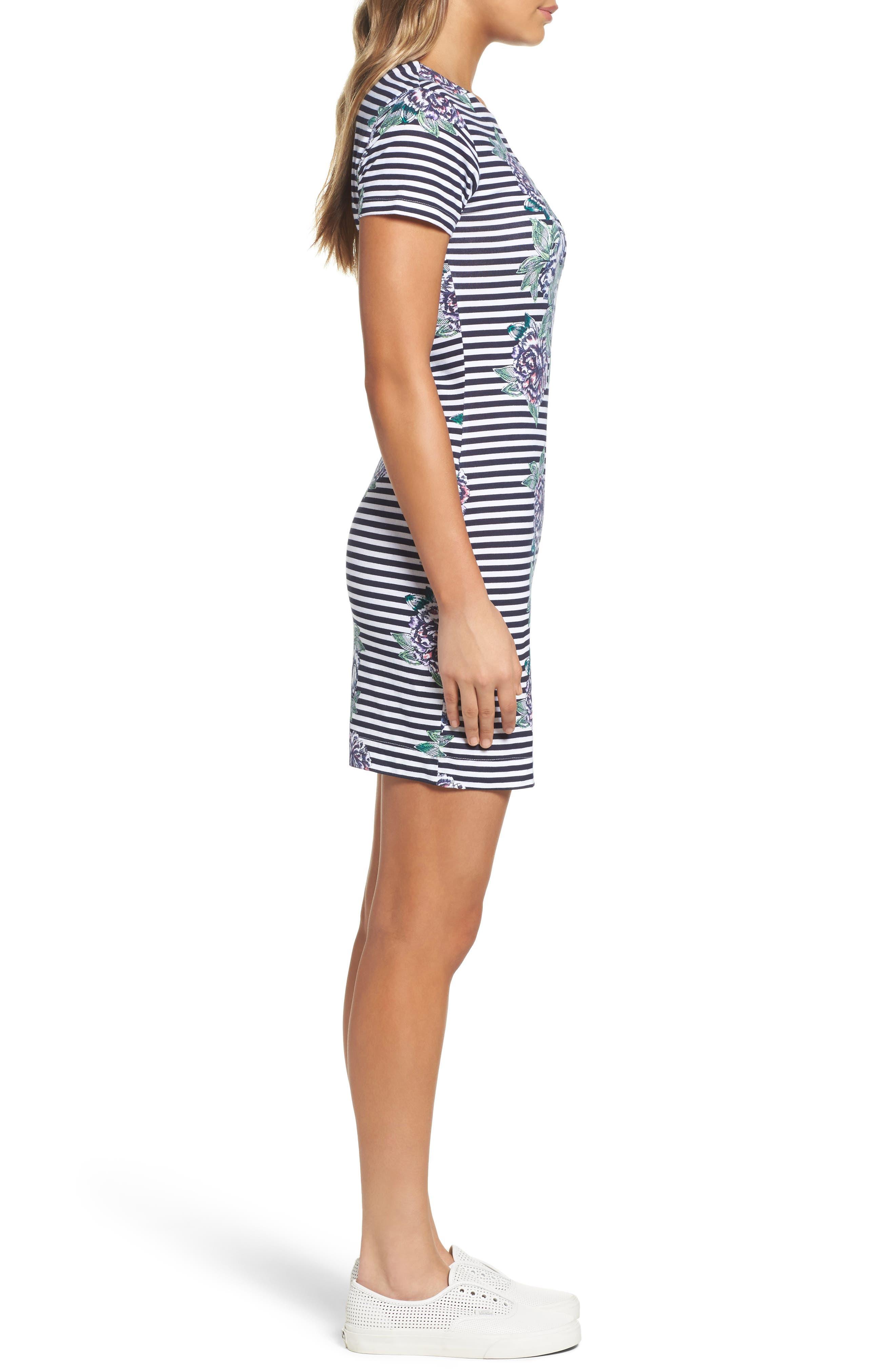 Bonita Trail T-Shirt Dress,                             Alternate thumbnail 3, color,                             432