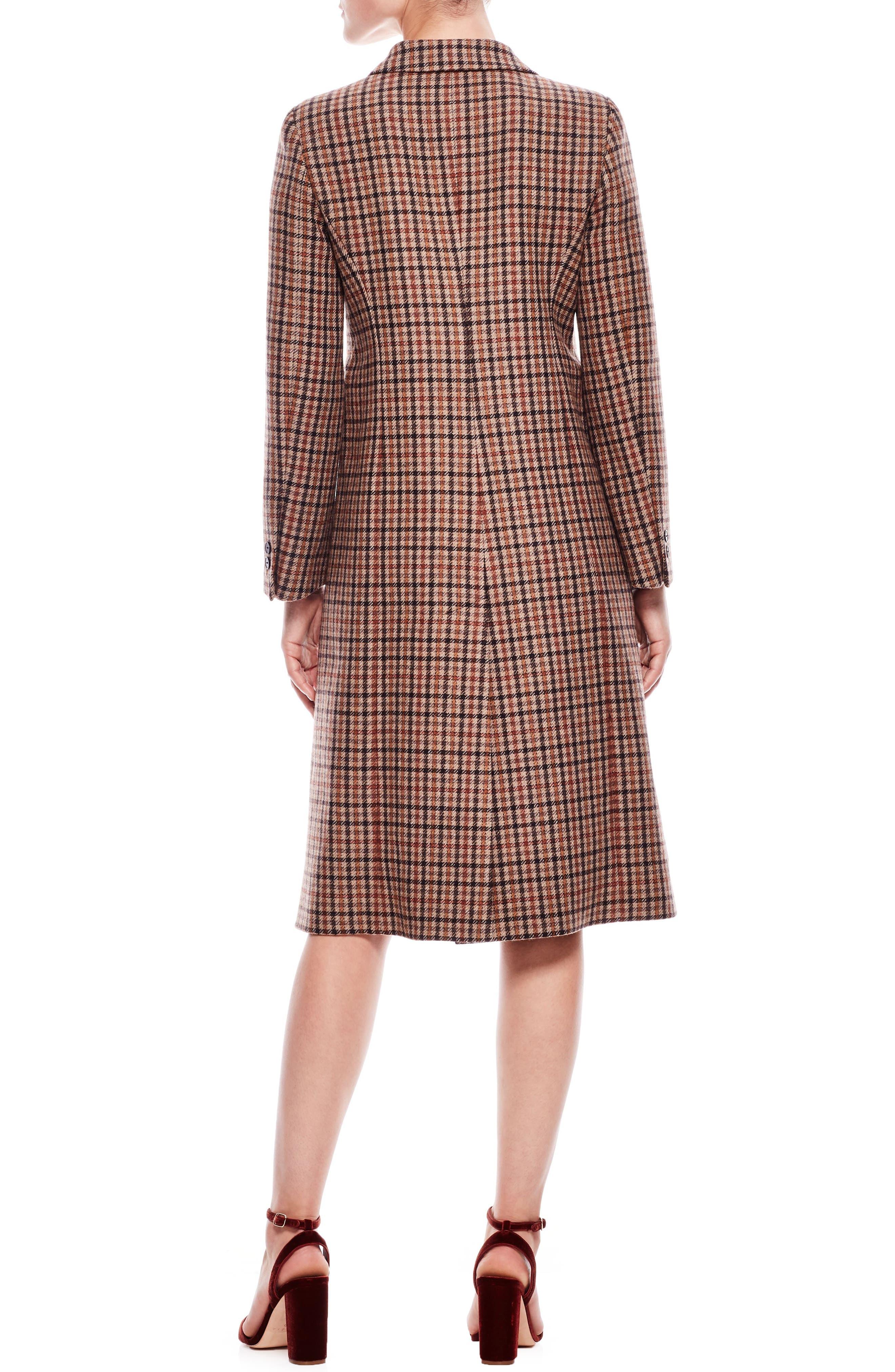 Colere Check Wool Blend Coat,                             Alternate thumbnail 2, color,                             200