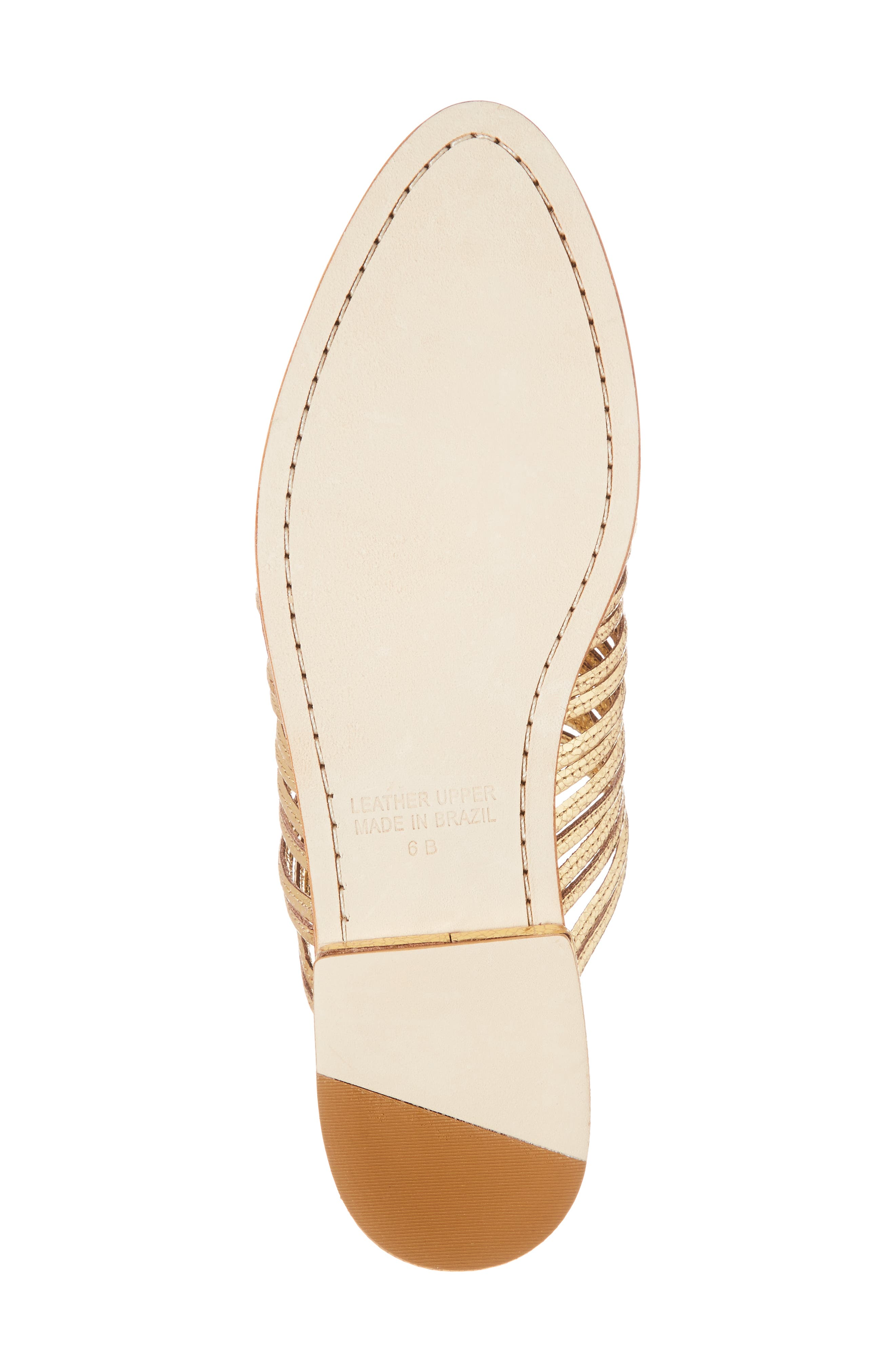 Gloria Sandal,                             Alternate thumbnail 6, color,                             GOLD LEATHER