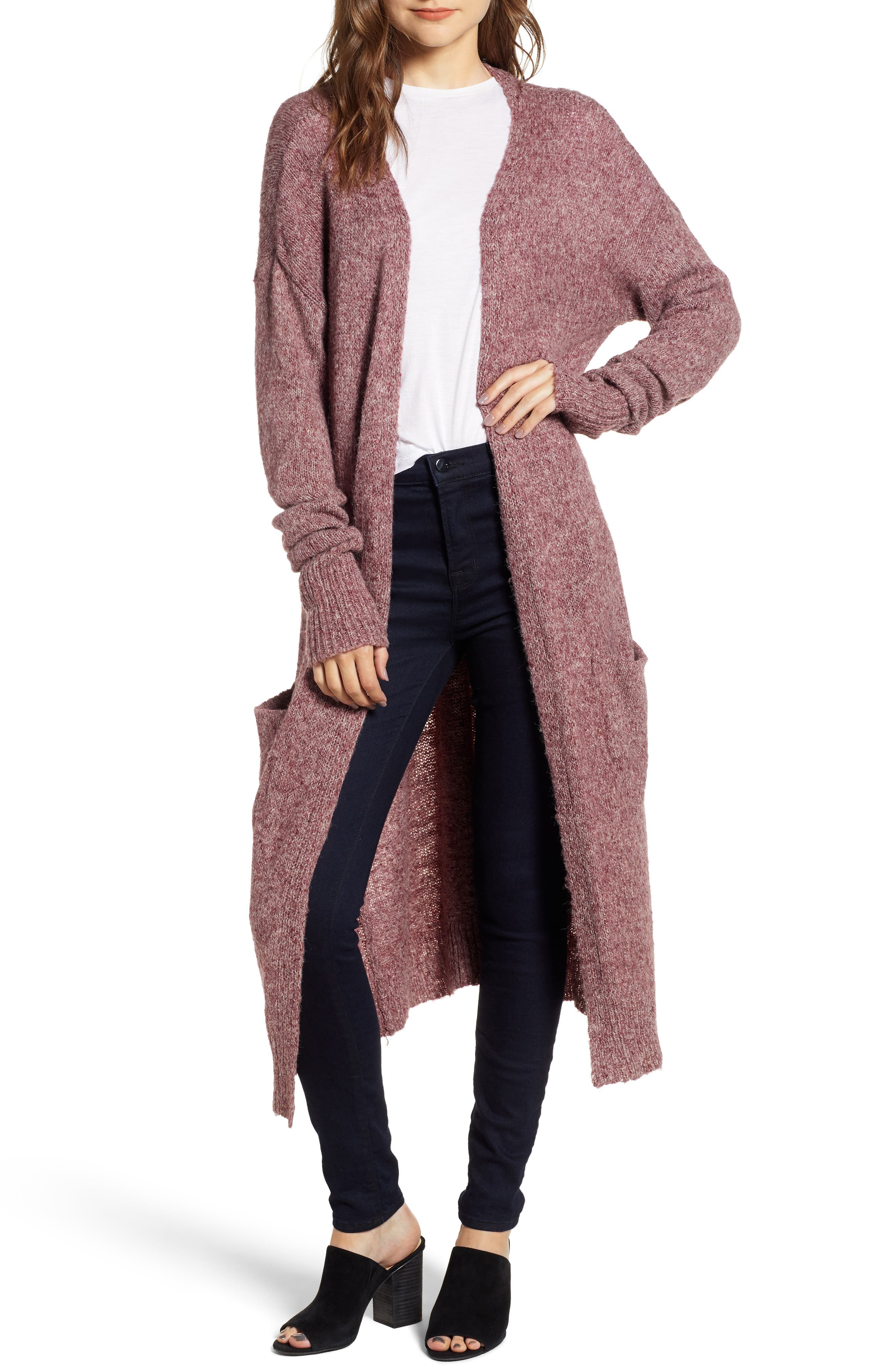 Chelsea Cardigan,                         Main,                         color, BURGUNDY