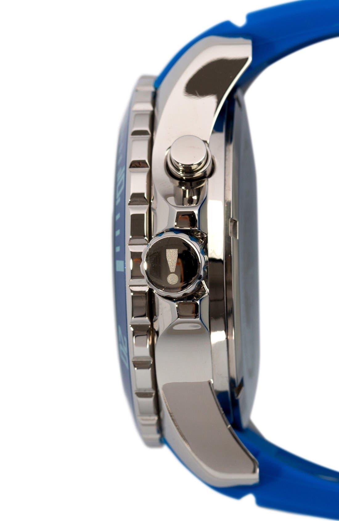 'Power' Silicone Strap Watch, 48mm,                             Alternate thumbnail 3, color,                             GITANE BLUE/ GITANE BLUE