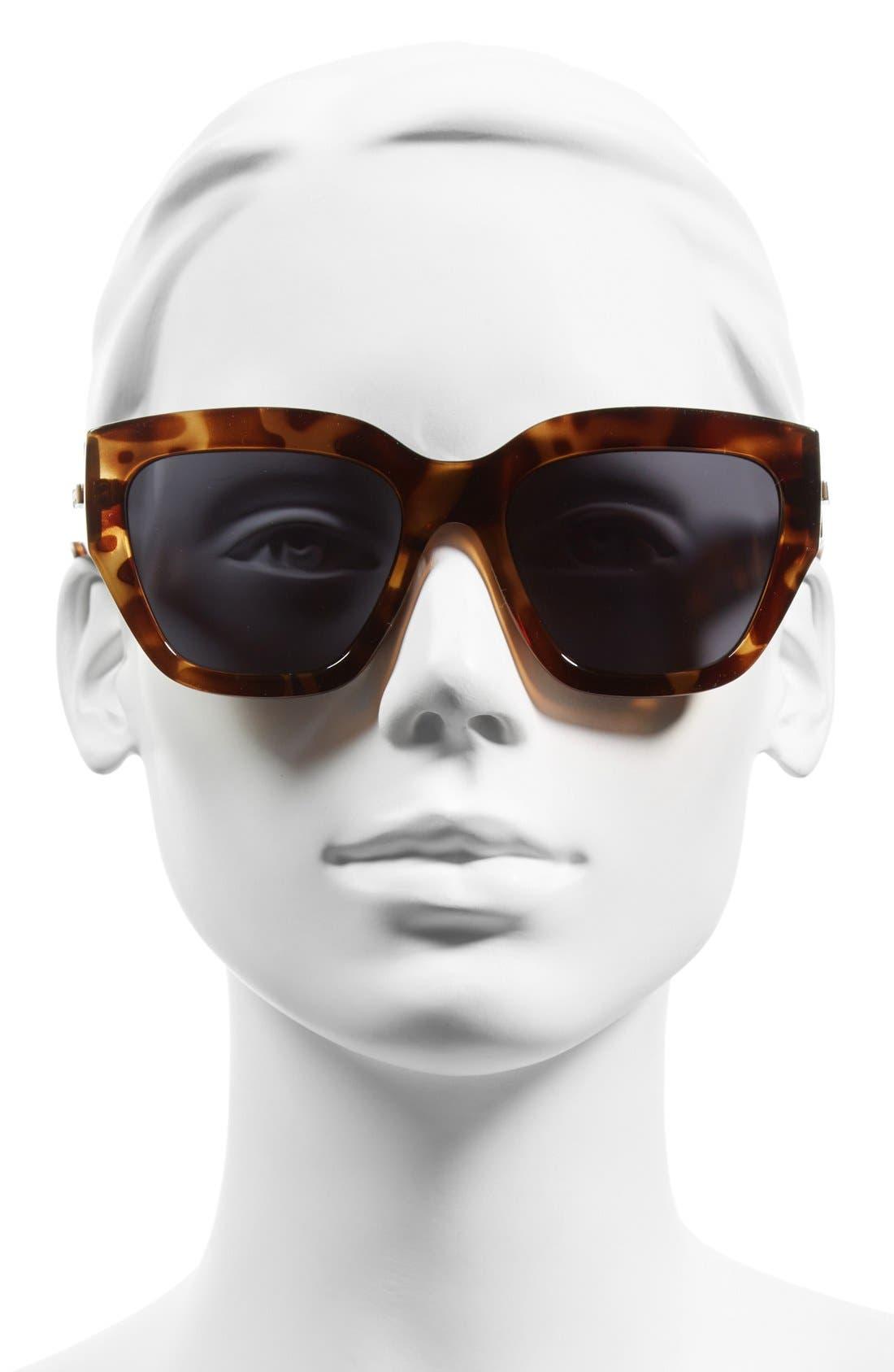 'Hermosa' 54mm Oversized Cat Eye Sunglasses,                             Alternate thumbnail 2, color,                             200