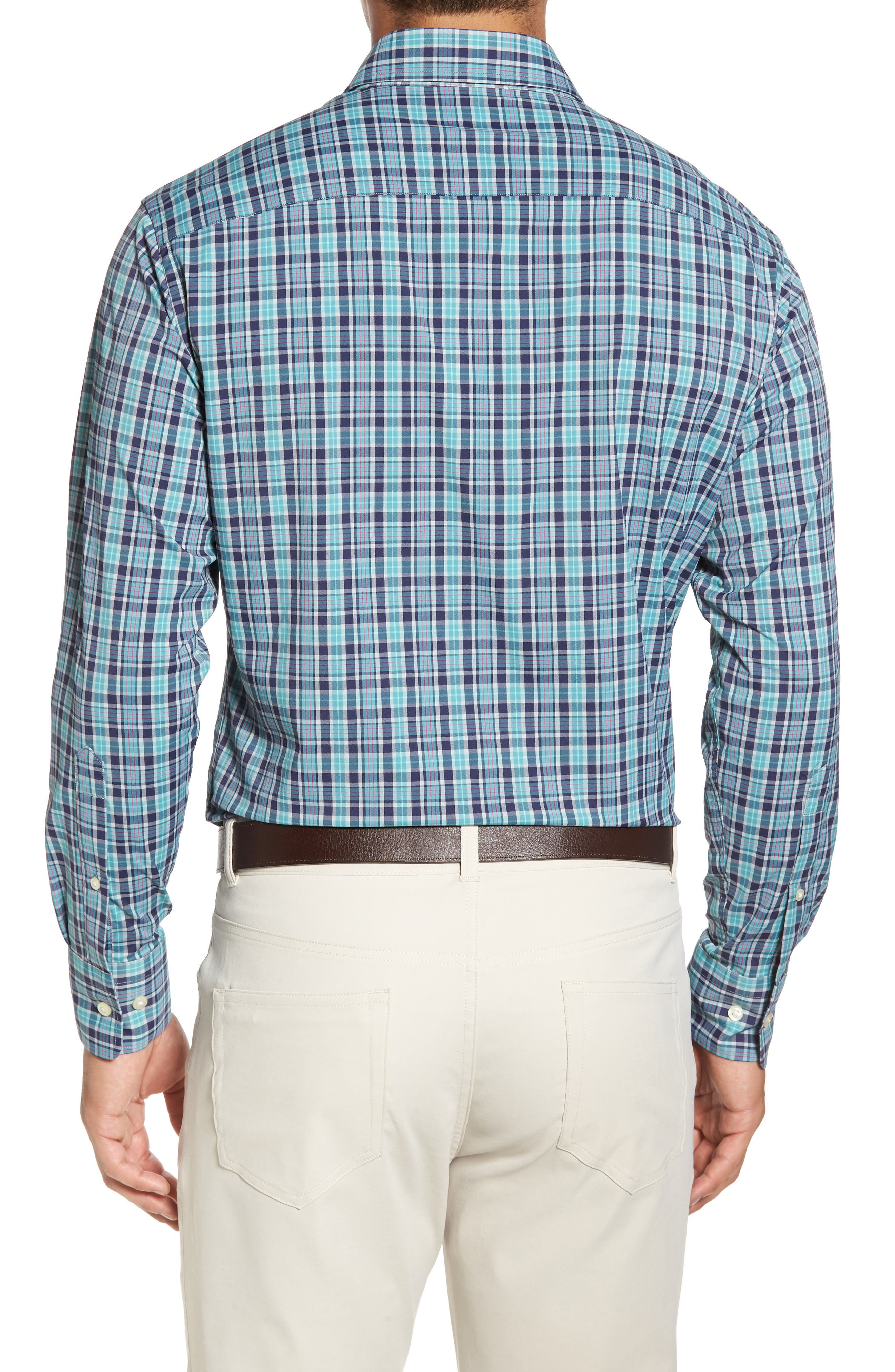 Sutter Athletic Fit Check Performance Sport Shirt,                             Alternate thumbnail 2, color,                             398