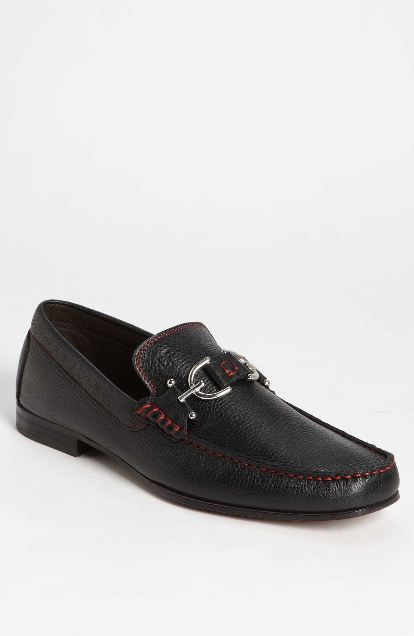 Dacio II Loafer,                             Alternate thumbnail 2, color,                             BLACK/ BLACK LEATHER