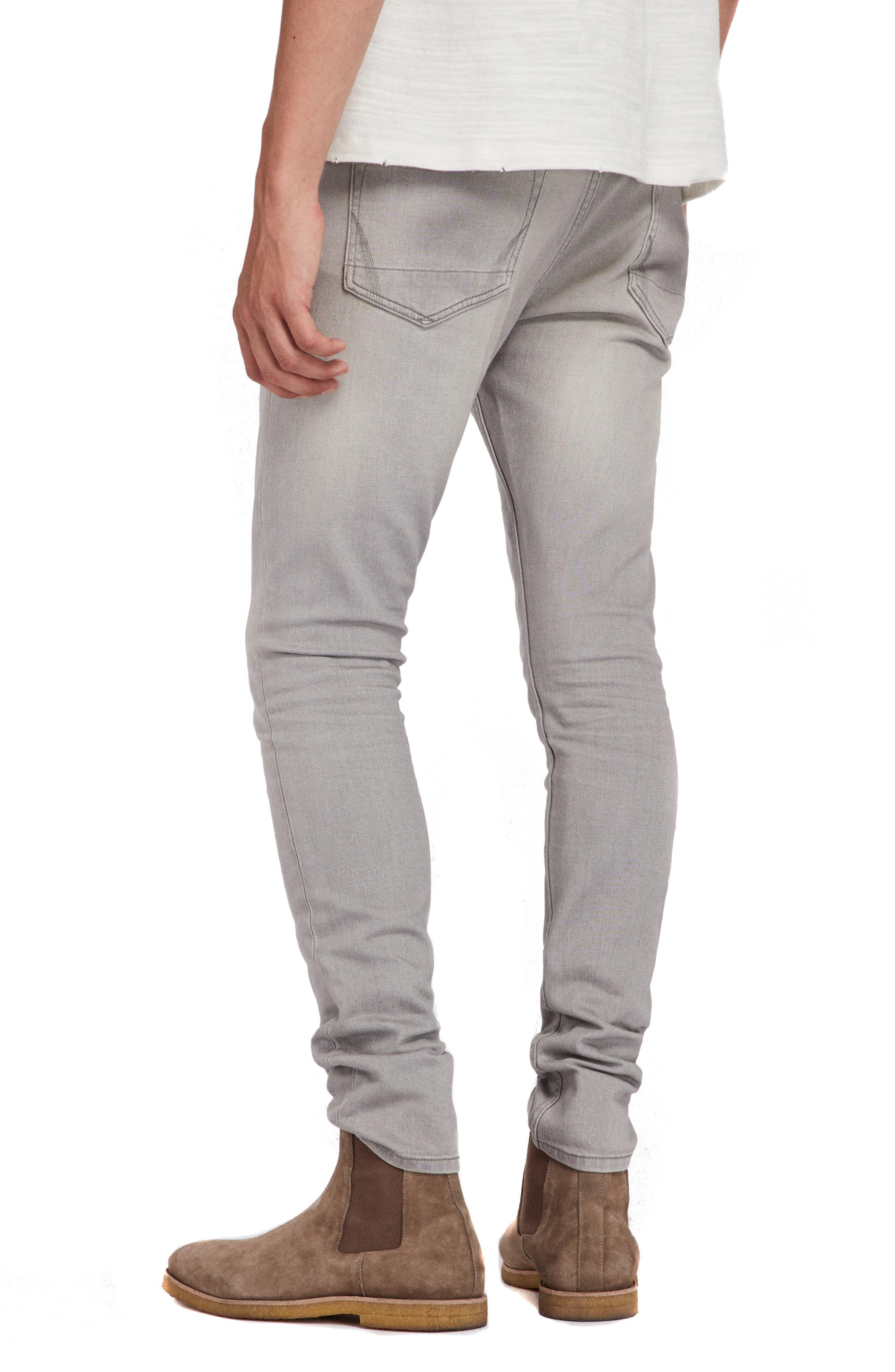 Raveline Cigarette Skinny Fit Jeans,                             Alternate thumbnail 2, color,                             GREY