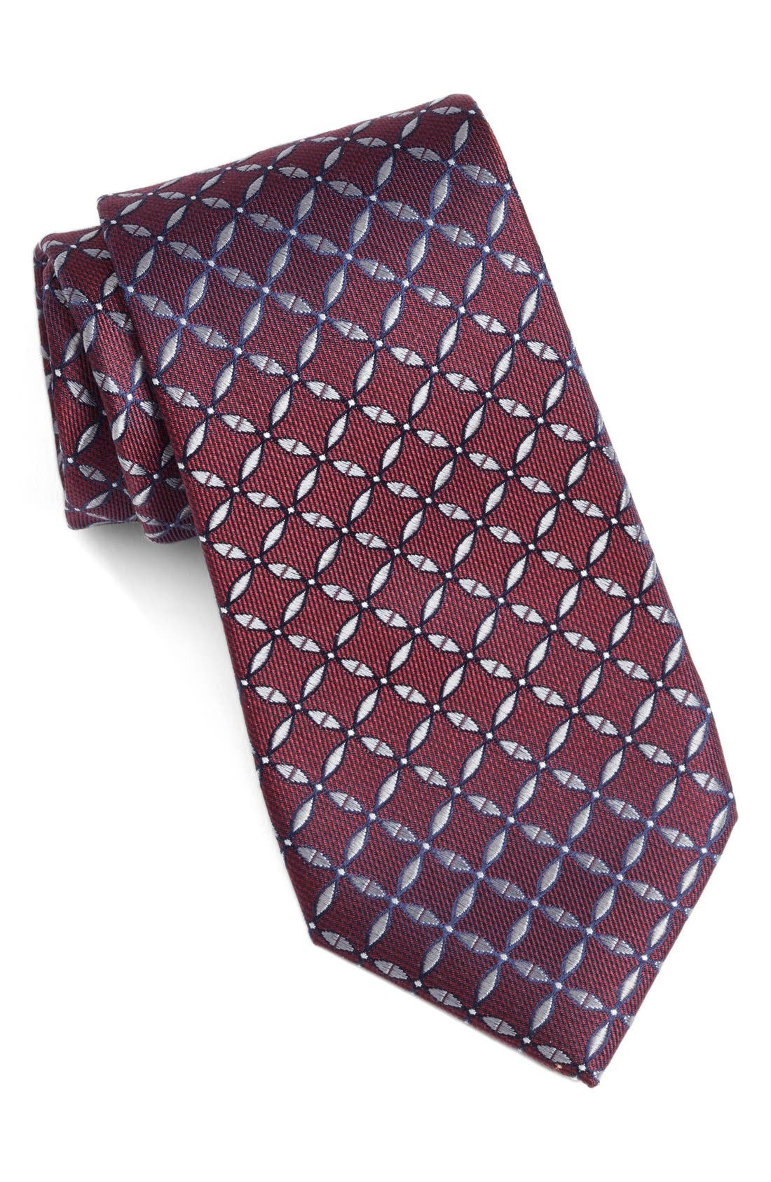 Geometric Silk Tie,                             Main thumbnail 5, color,
