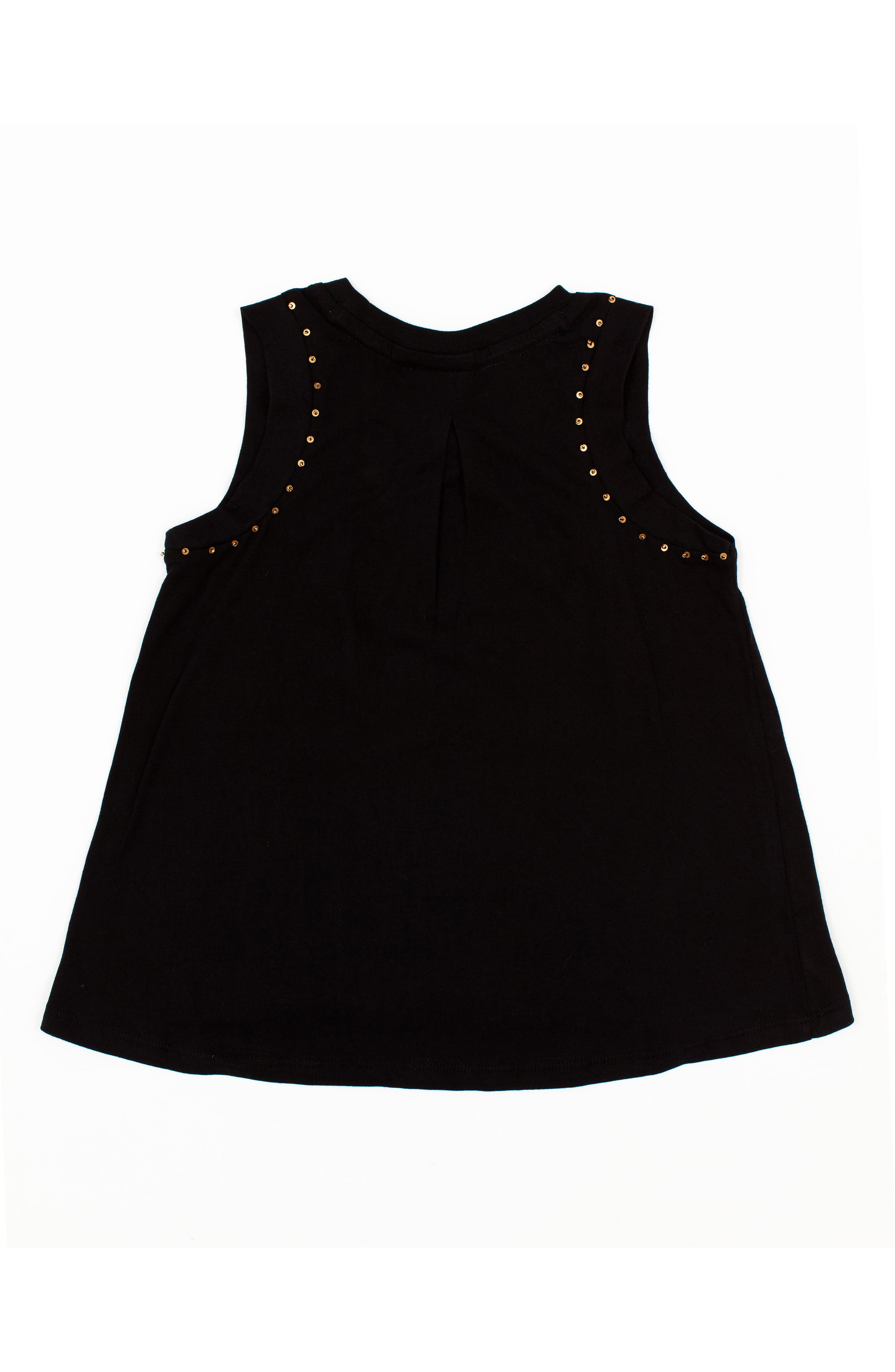 Foxy Beaded Muscle Tee,                             Alternate thumbnail 2, color,                             BLACK