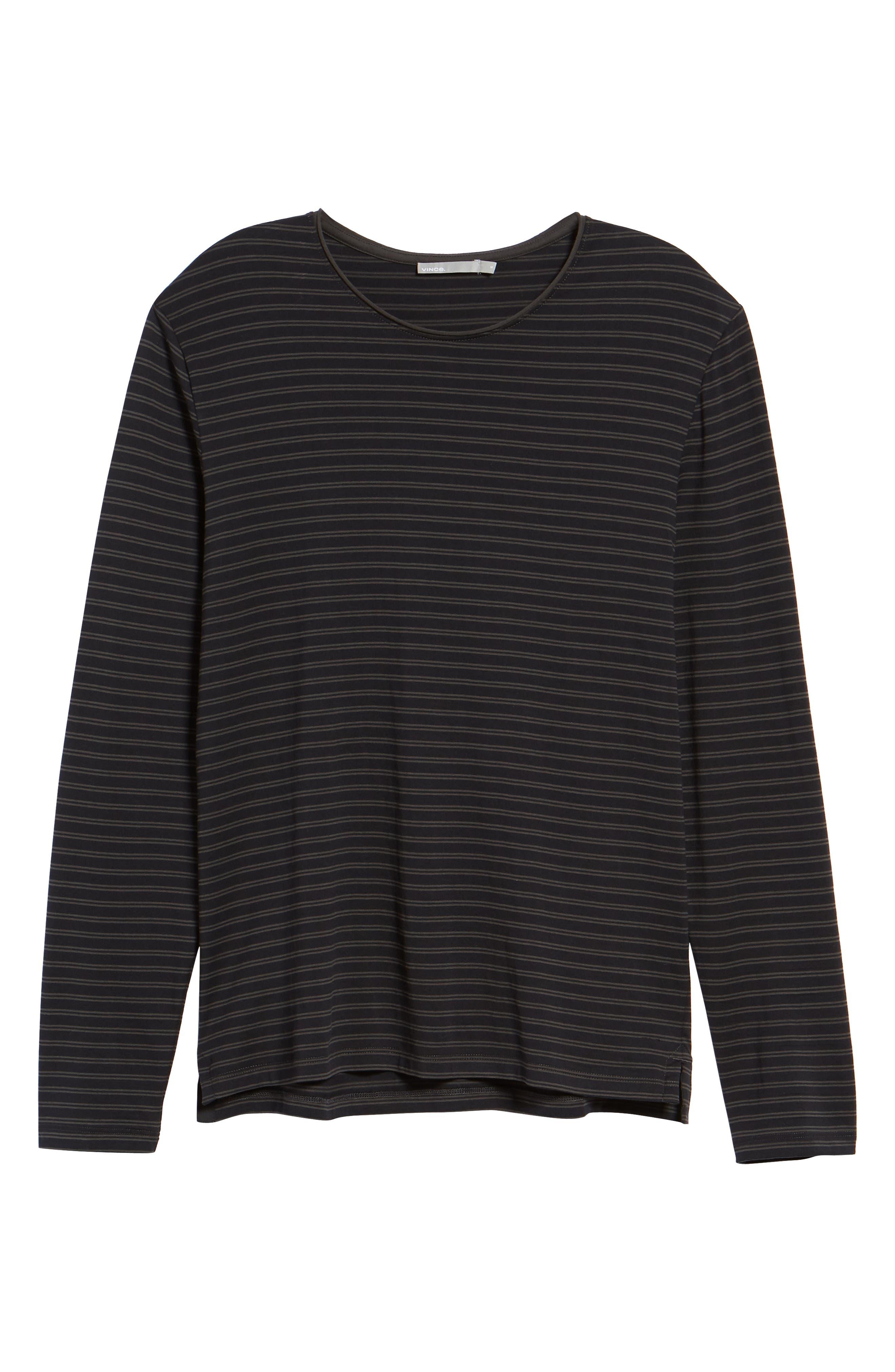 Double Stripe Long Sleeve T-Shirt,                             Alternate thumbnail 6, color,                             400