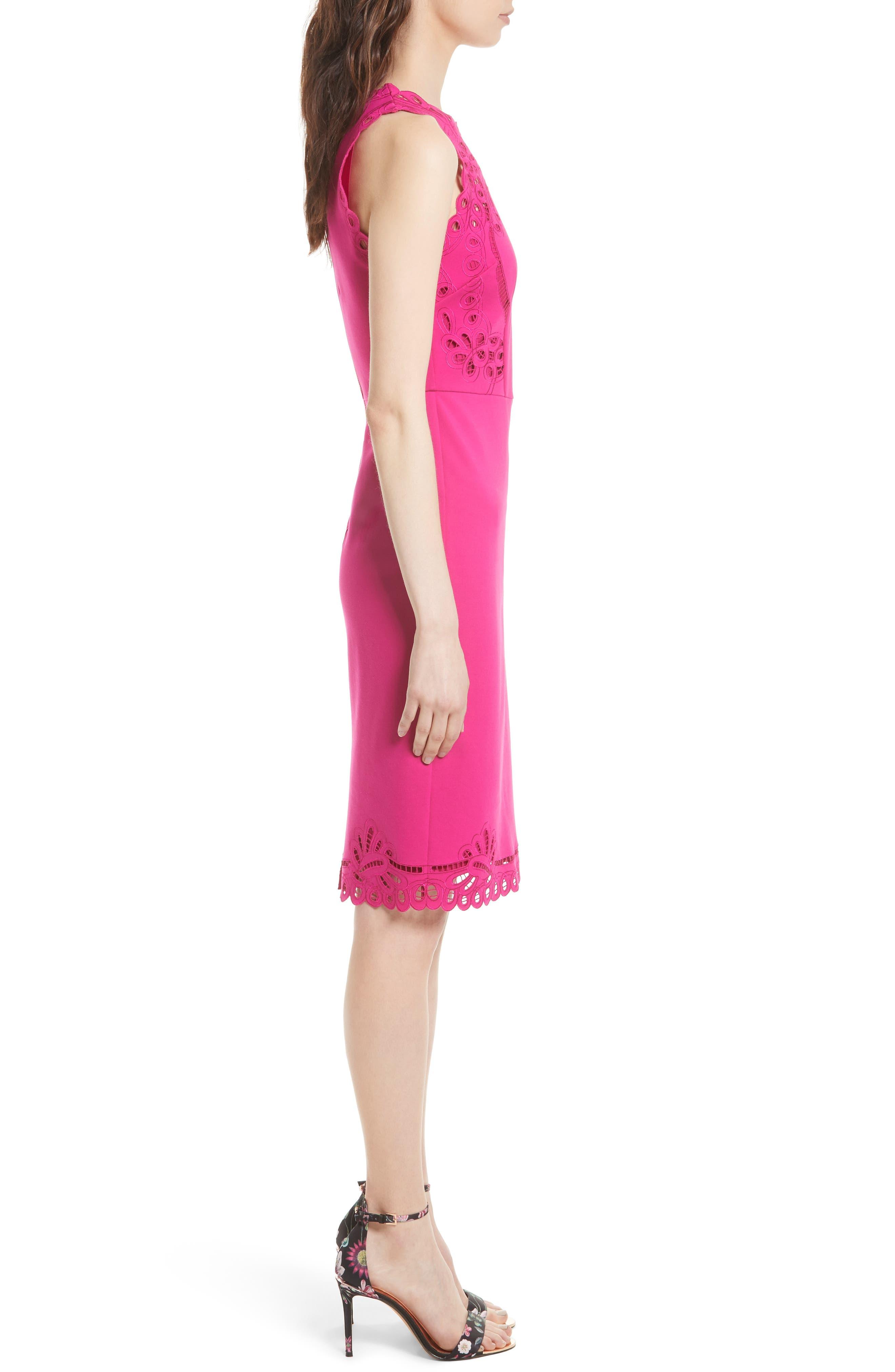 Verita Cutout Yoke Sheath Dress,                             Alternate thumbnail 9, color,