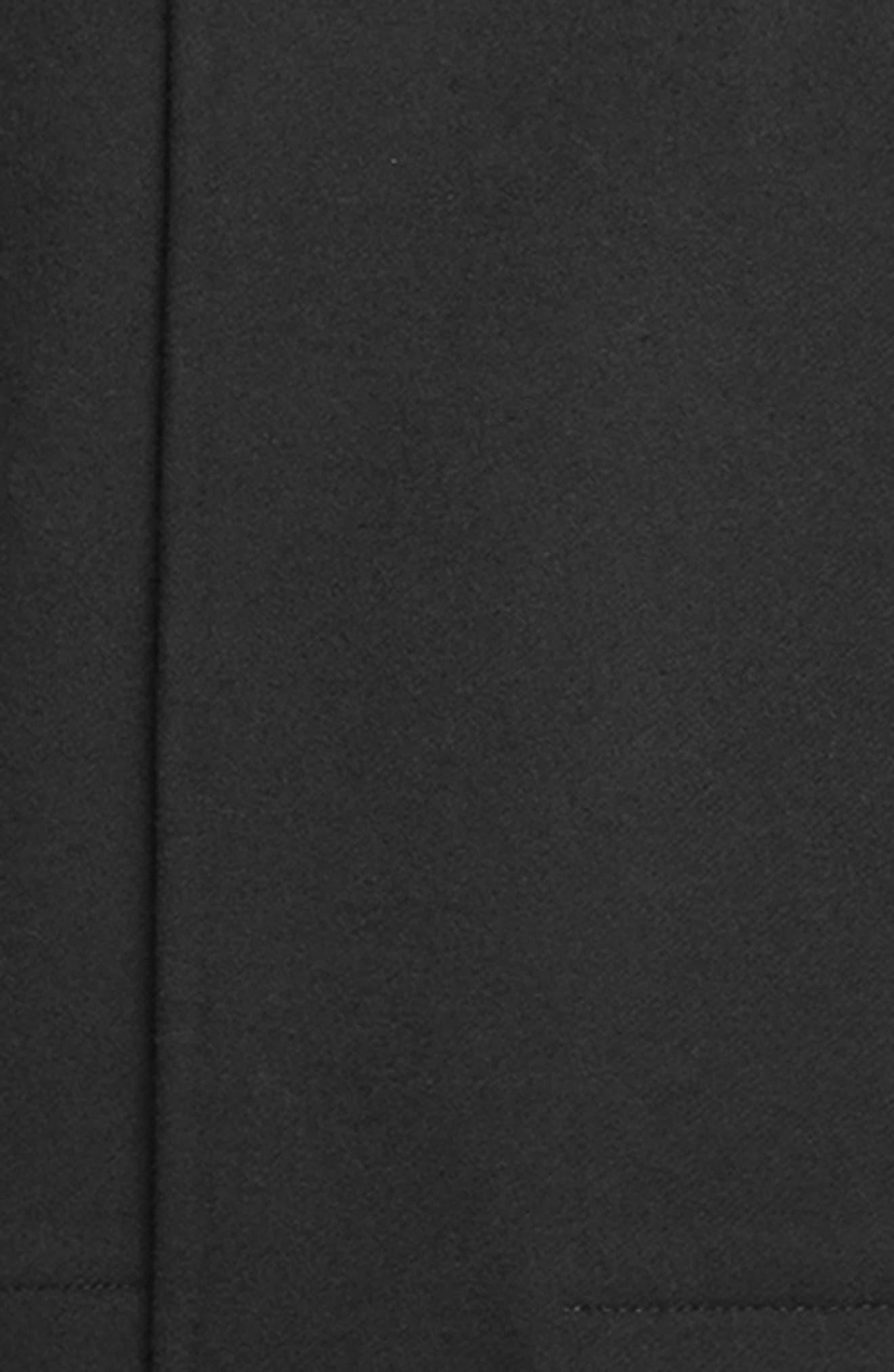 Double Face Wool Blend Coat,                             Alternate thumbnail 5, color,                             BLACK