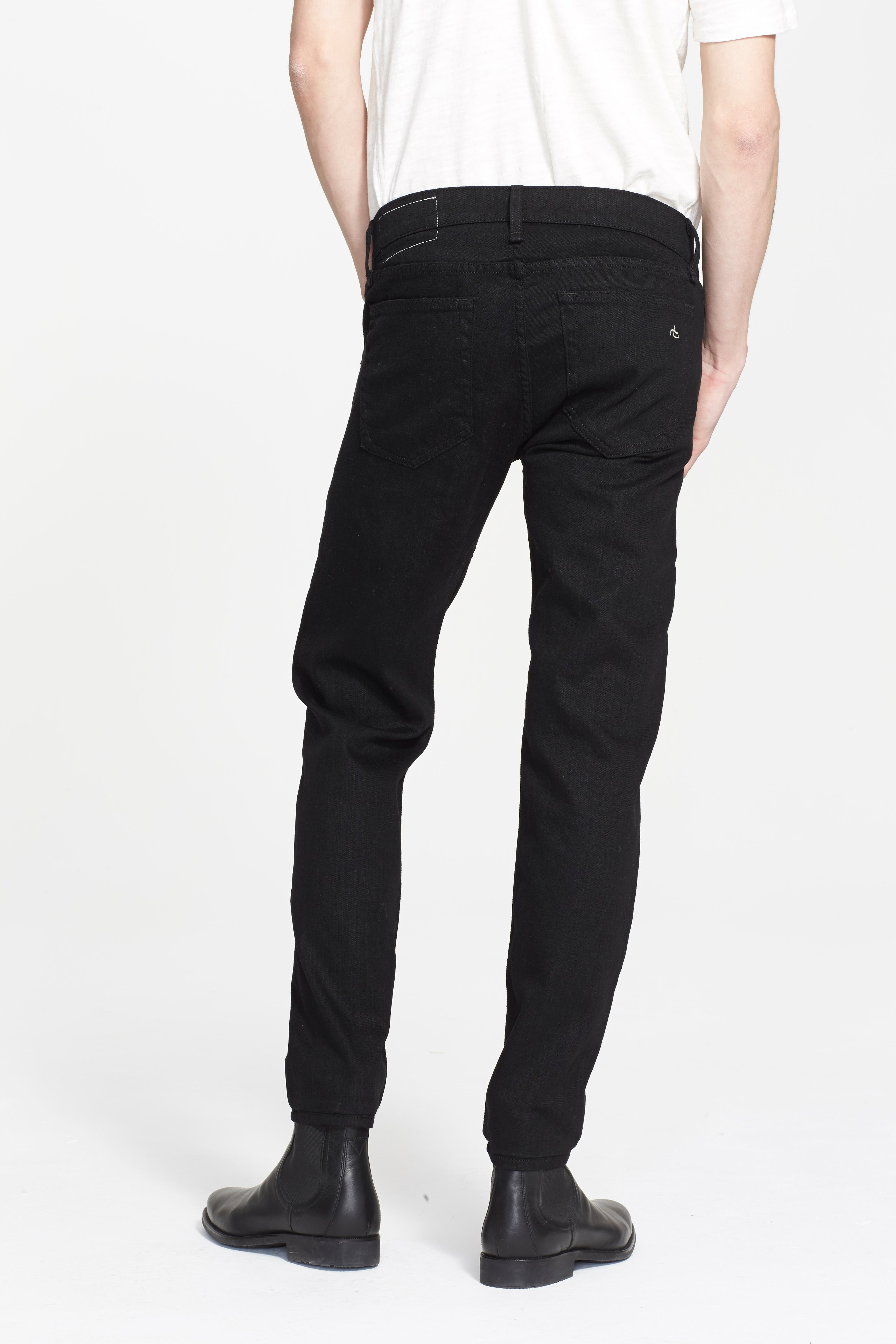 Standard Issue Fit 1 Skinny Fit Jeans,                             Alternate thumbnail 3, color,                             BLACK