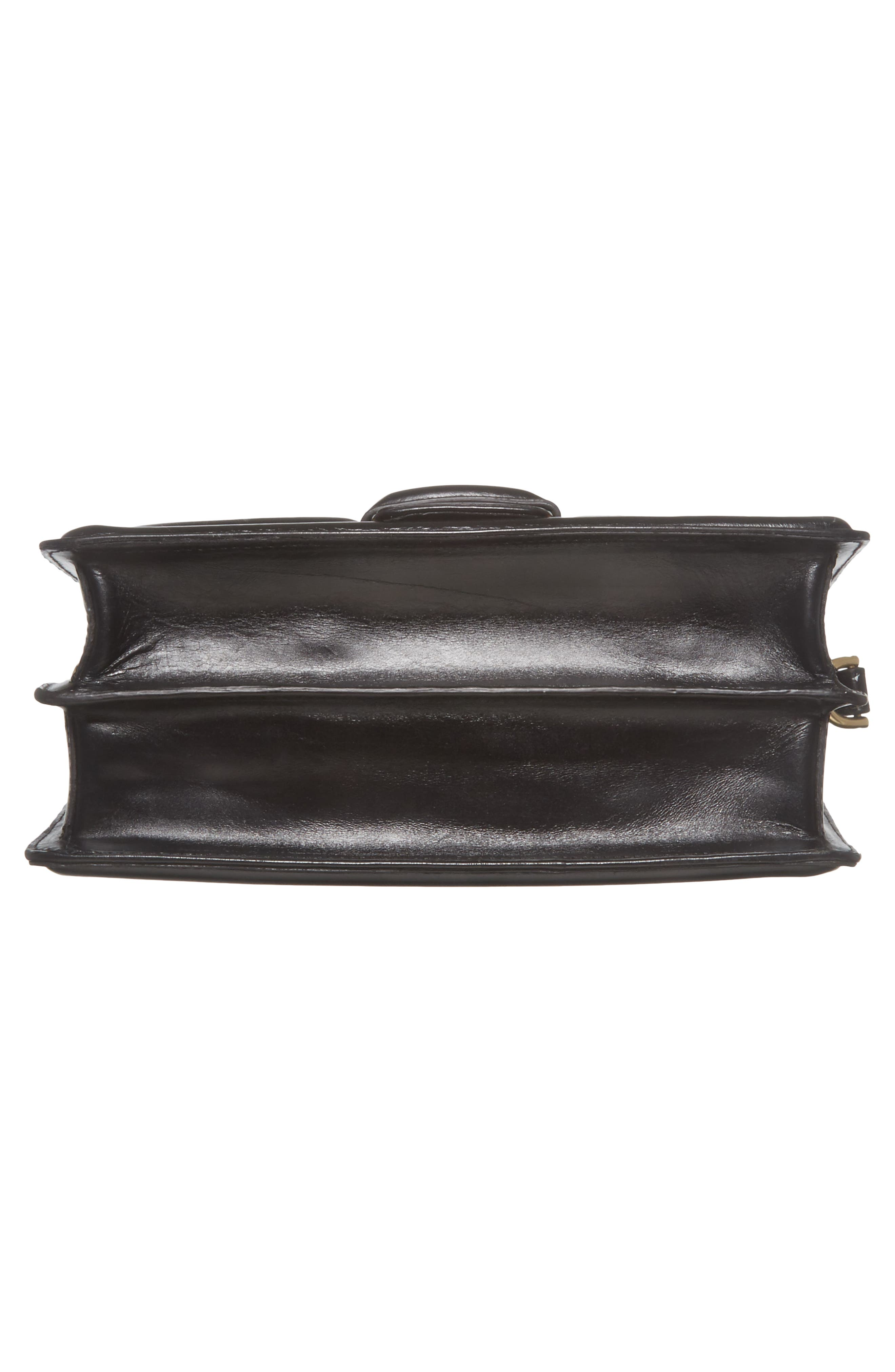 DRIES VAN NOTEN,                             Floral Jacquard & Leather Crossbody Bag,                             Alternate thumbnail 6, color,                             700