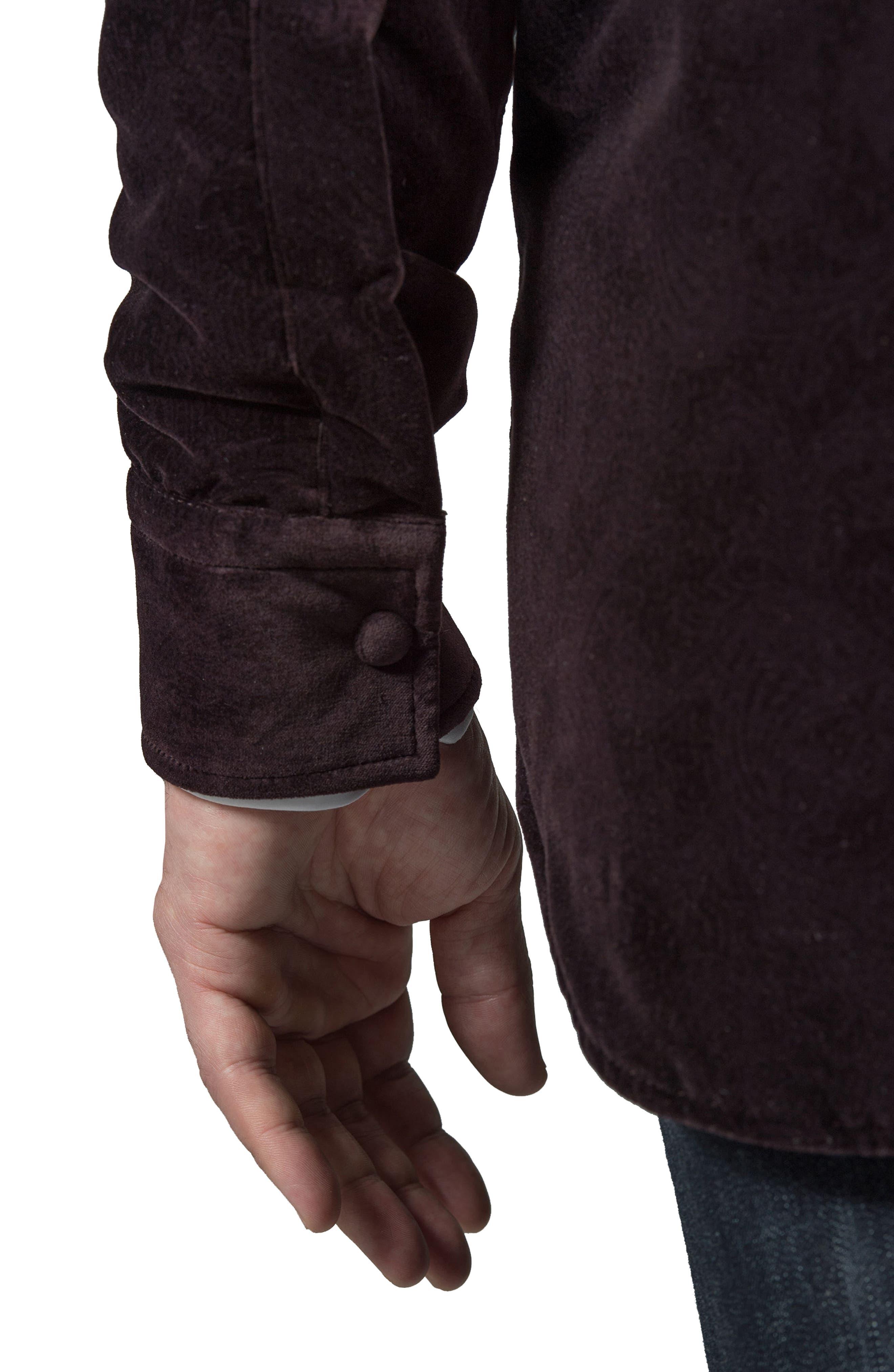 Carnaby Slim Fit Shirt Jacket,                             Alternate thumbnail 2, color,                             EGGPLANT