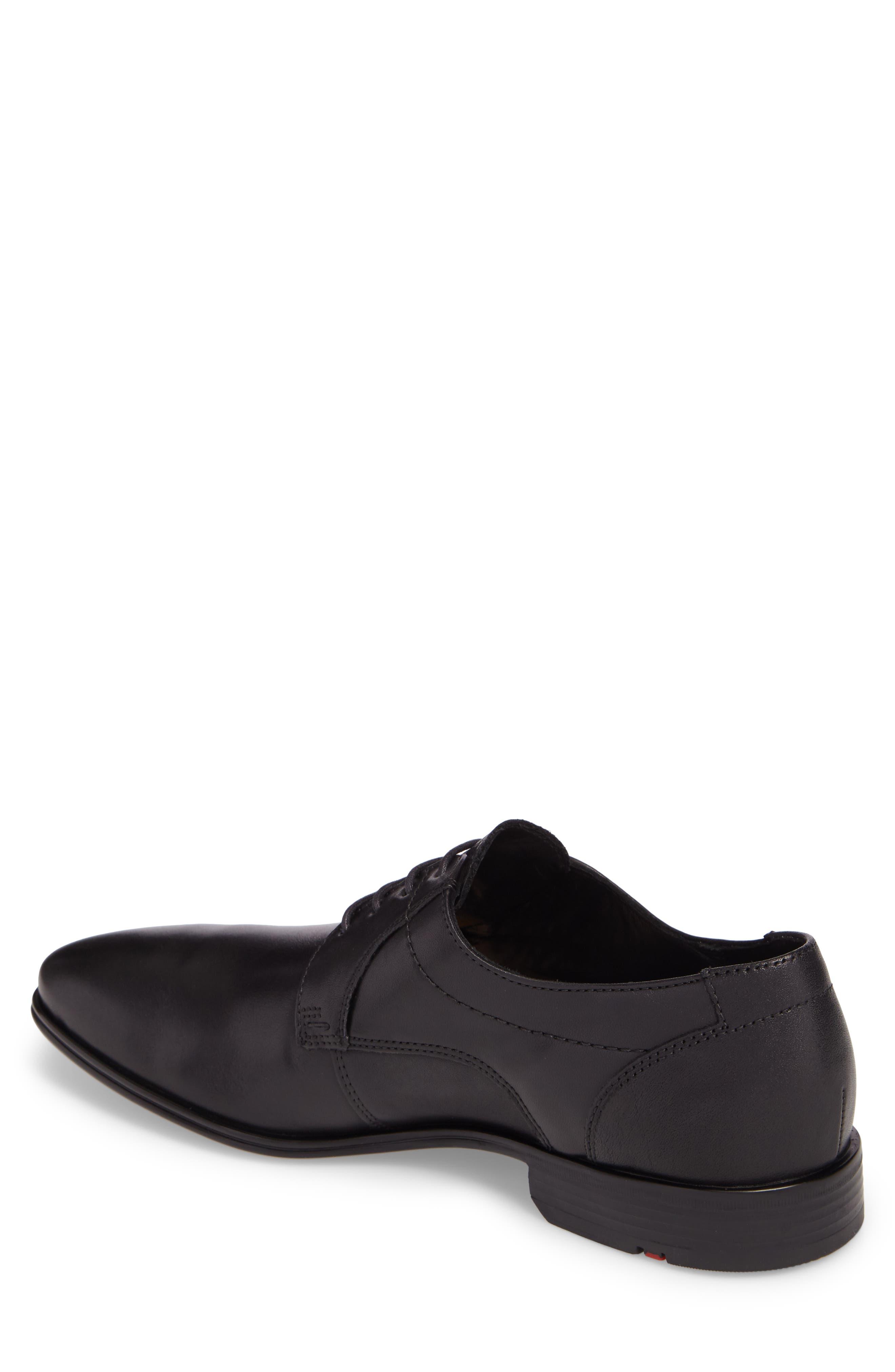 Osmond Plain Toe Derby,                             Alternate thumbnail 2, color,                             BLACK LEATHER