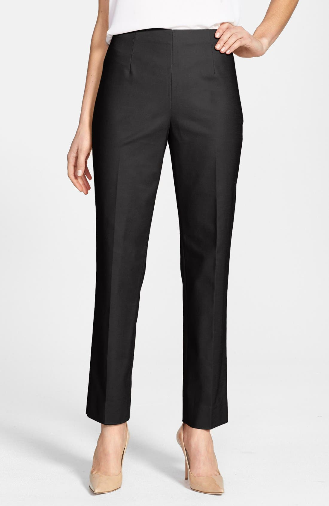 'The Perfect' Side Zip Ankle Pants,                             Main thumbnail 1, color,                             004
