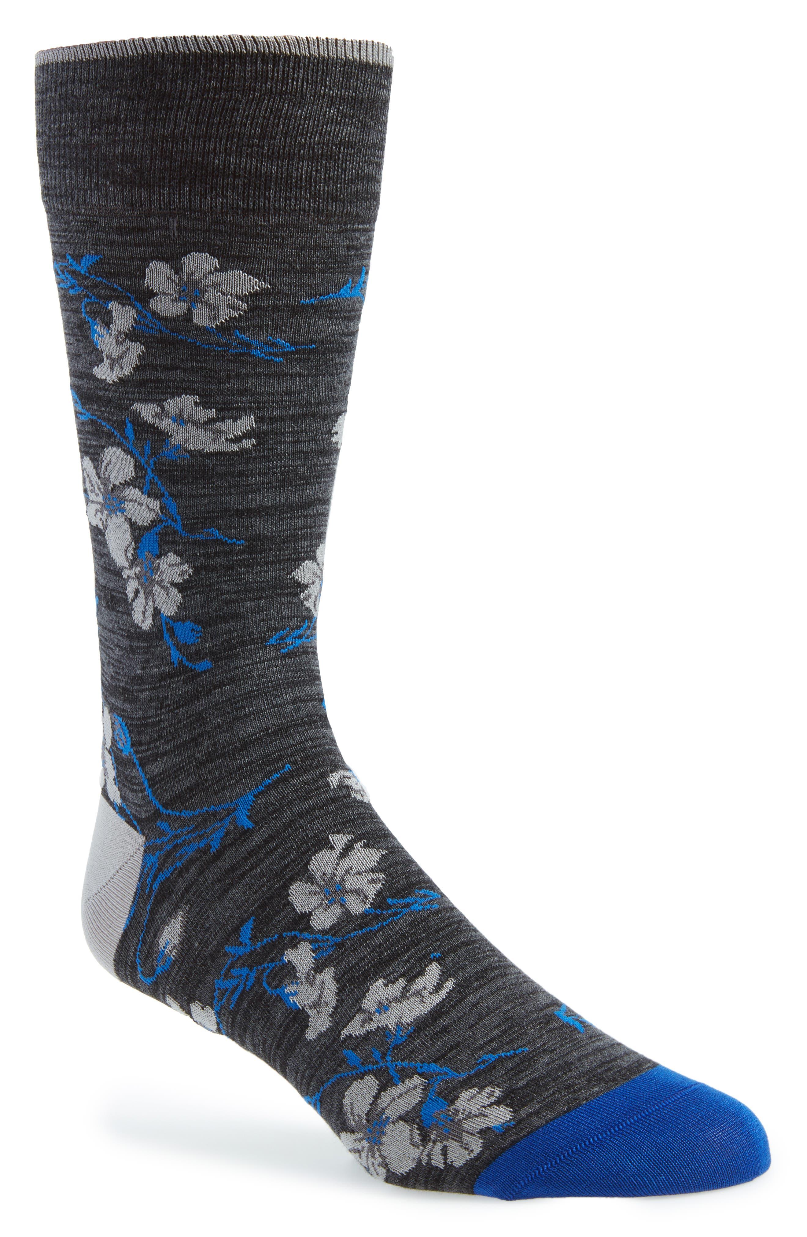 BUGATCHI Mercerized Cotton Blend Socks, Main, color, 030