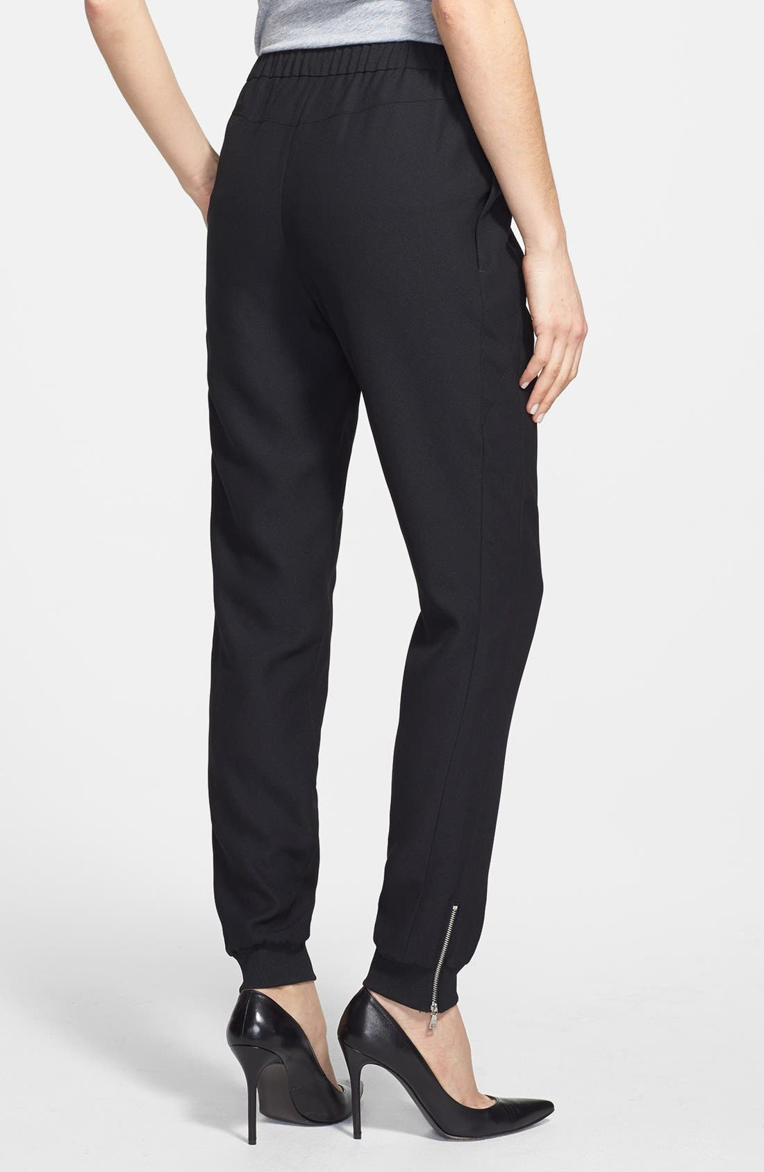 Ankle Zip Track Pants,                             Alternate thumbnail 2, color,                             001