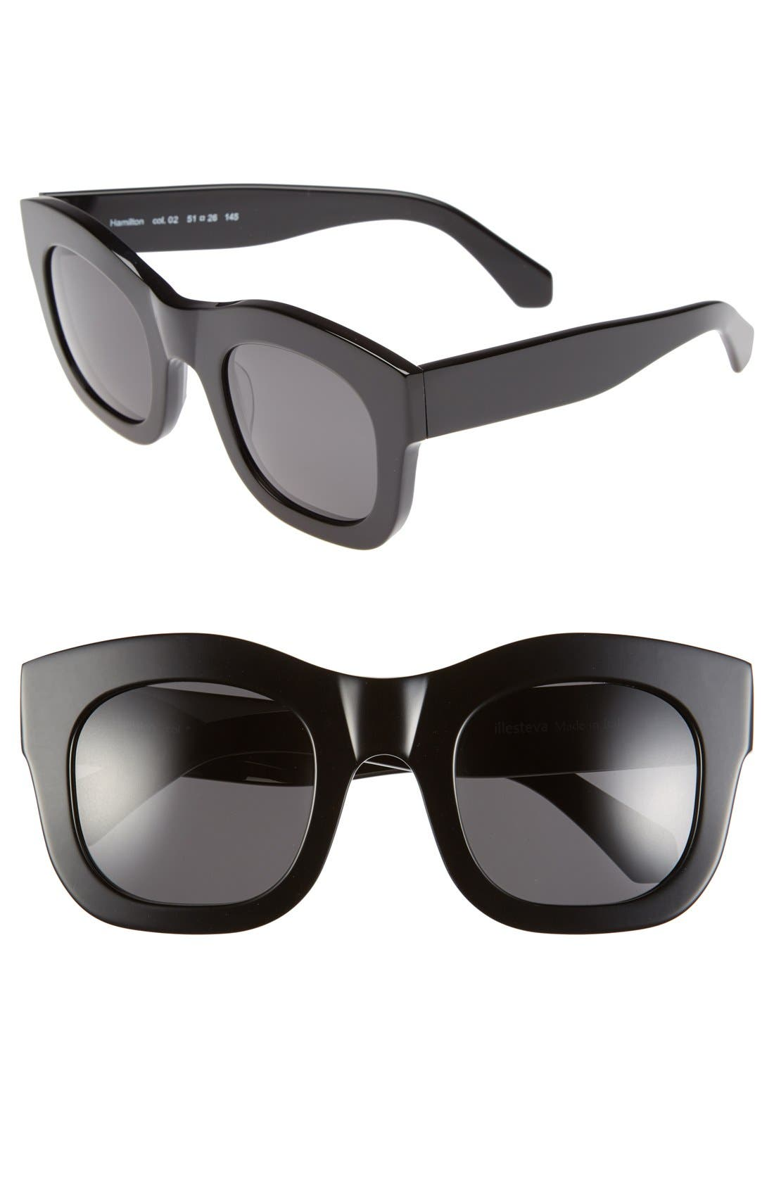 'Hamilton' 49mm Retro Sunglasses,                             Main thumbnail 3, color,