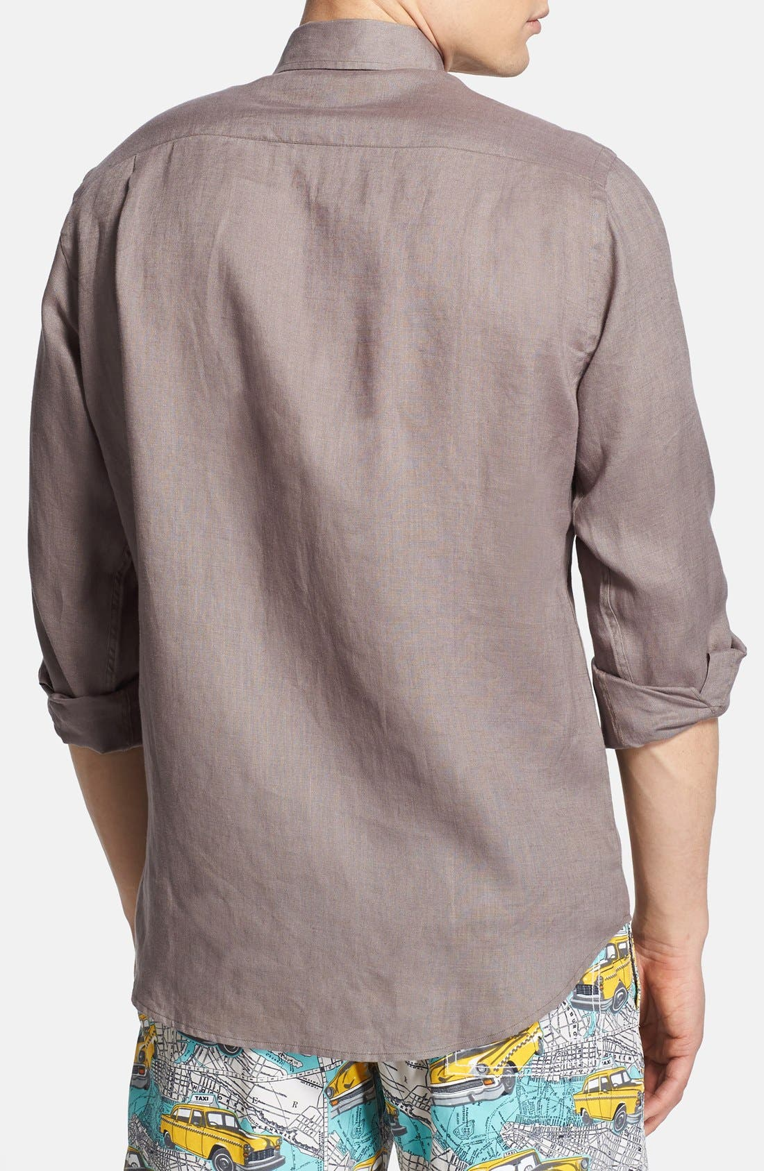 'Caroubier' Linen Shirt,                             Alternate thumbnail 19, color,