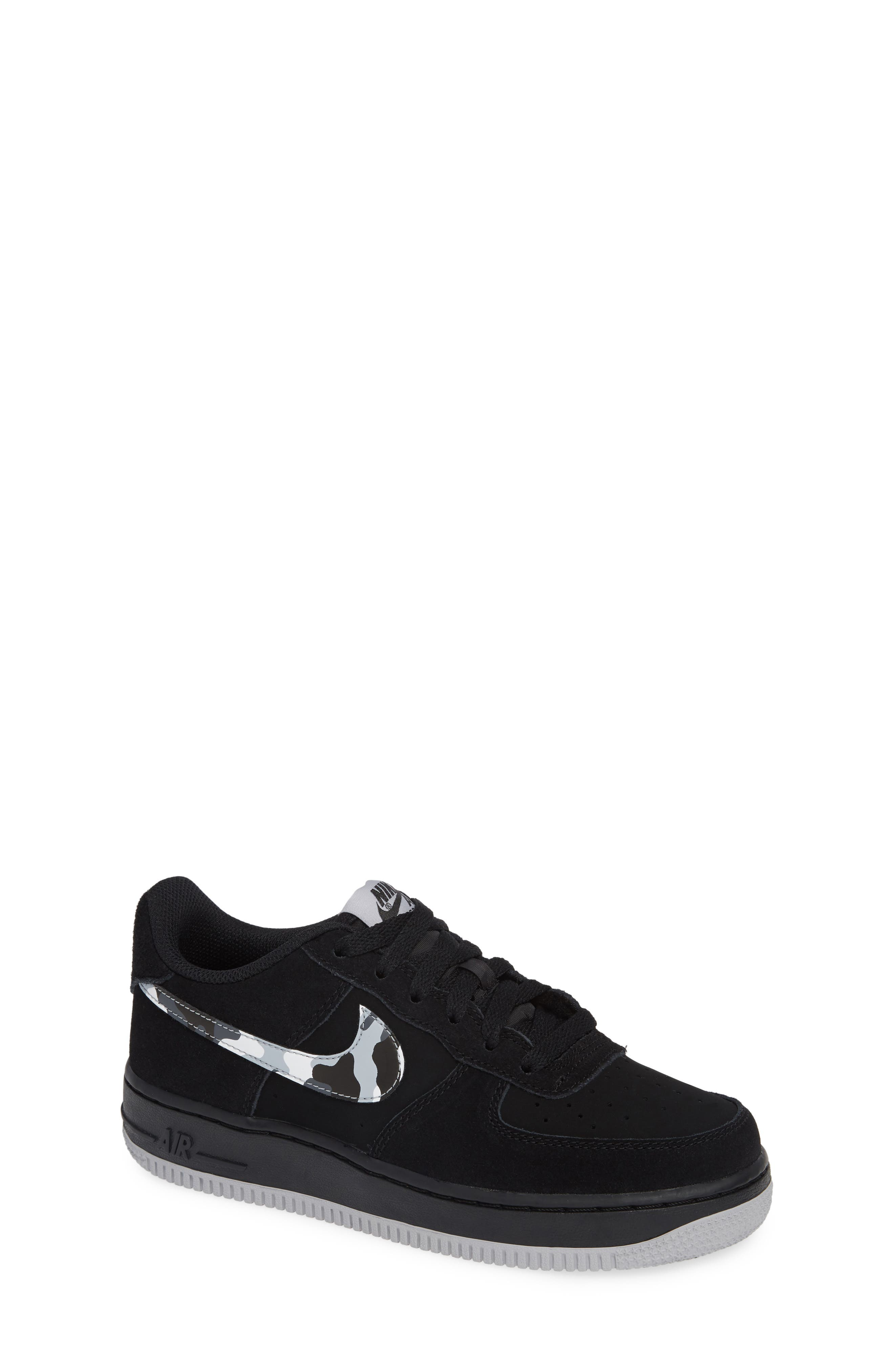 Air Force 1 Sneaker,                         Main,                         color, BLACK/ GREY/ WHITE