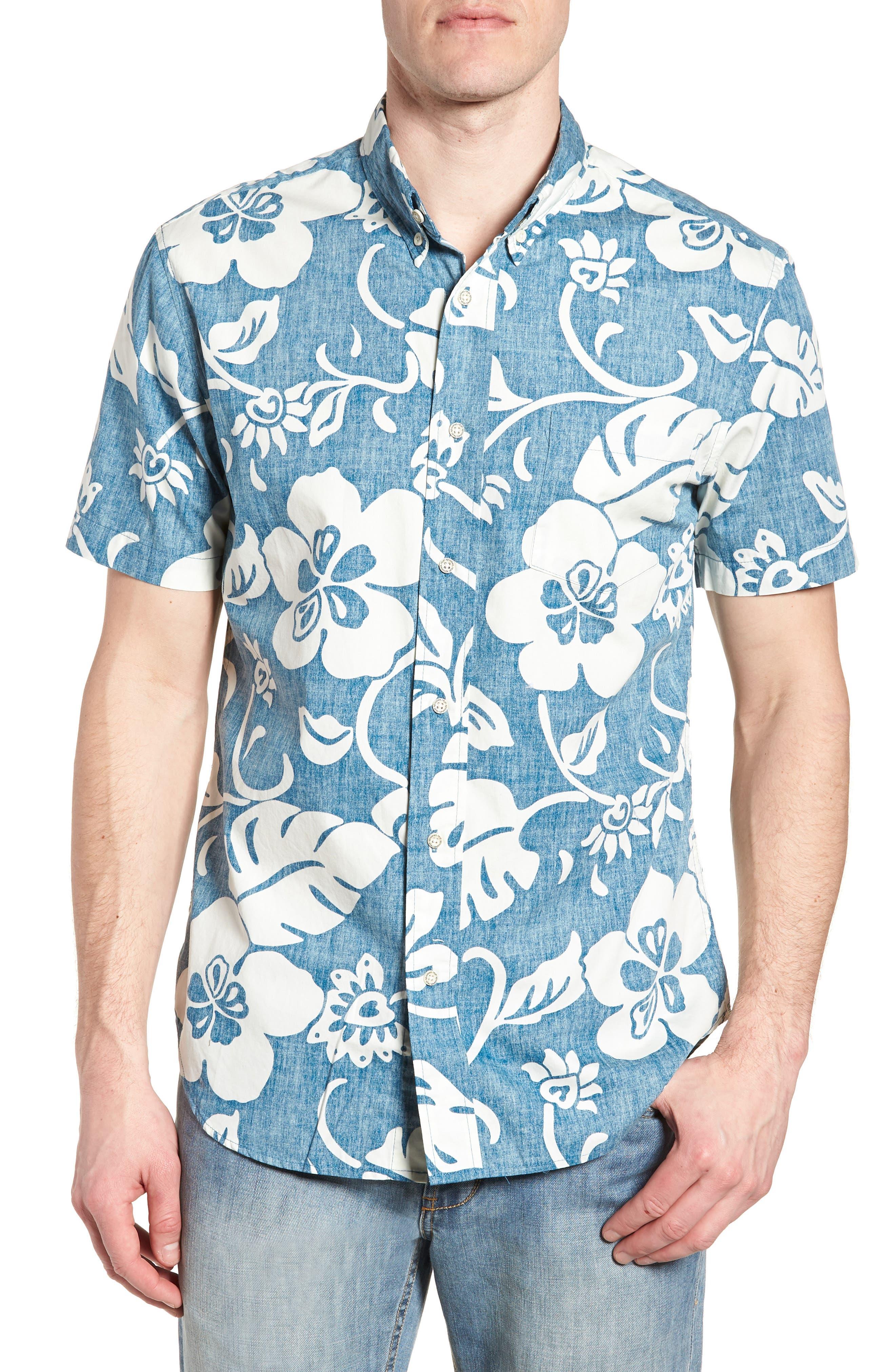 Papeetee Pareau Tailored Fit Sport Shirt,                             Main thumbnail 1, color,