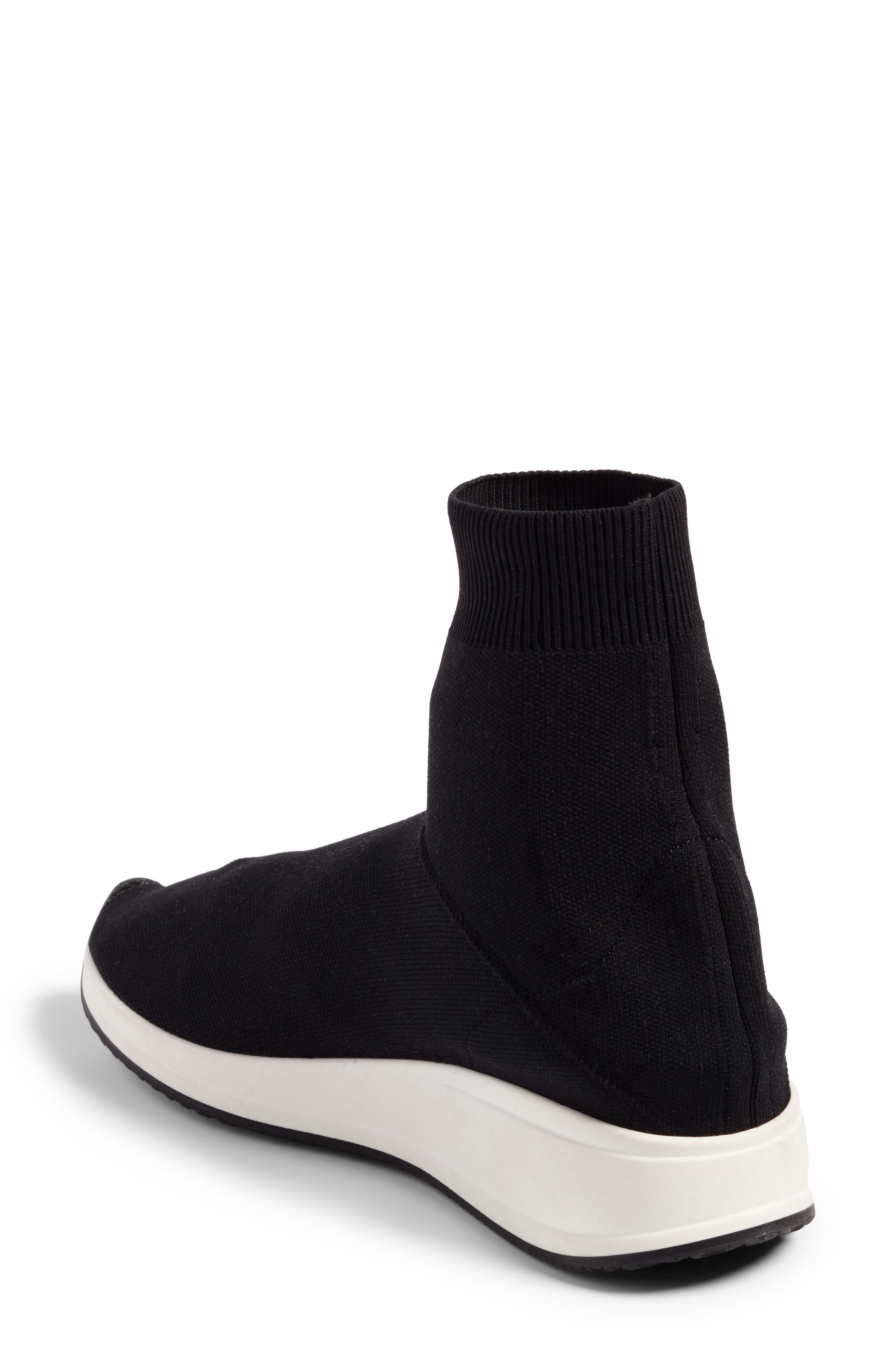 Fly To High Top Sock Sneaker,                             Alternate thumbnail 2, color,                             002
