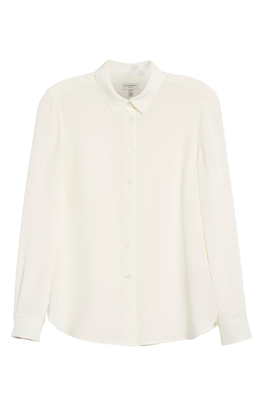 'Aster' Mulberry Silk Blouse,                             Alternate thumbnail 6, color,                             103