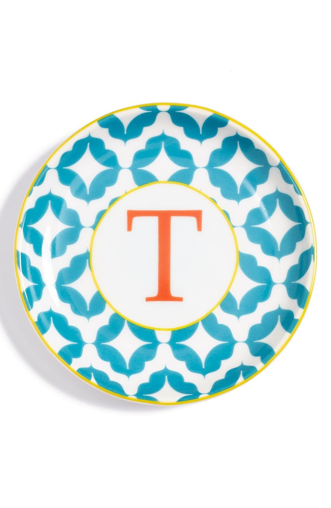 'L'Alphabet' Porcelain Tray,                             Main thumbnail 21, color,
