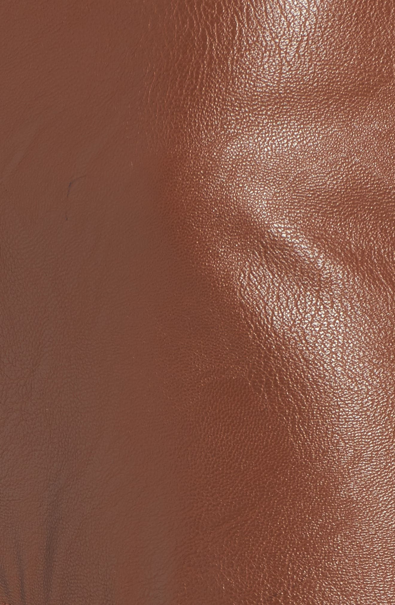 Ruffle Hem Faux Leather Skirt,                             Alternate thumbnail 5, color,