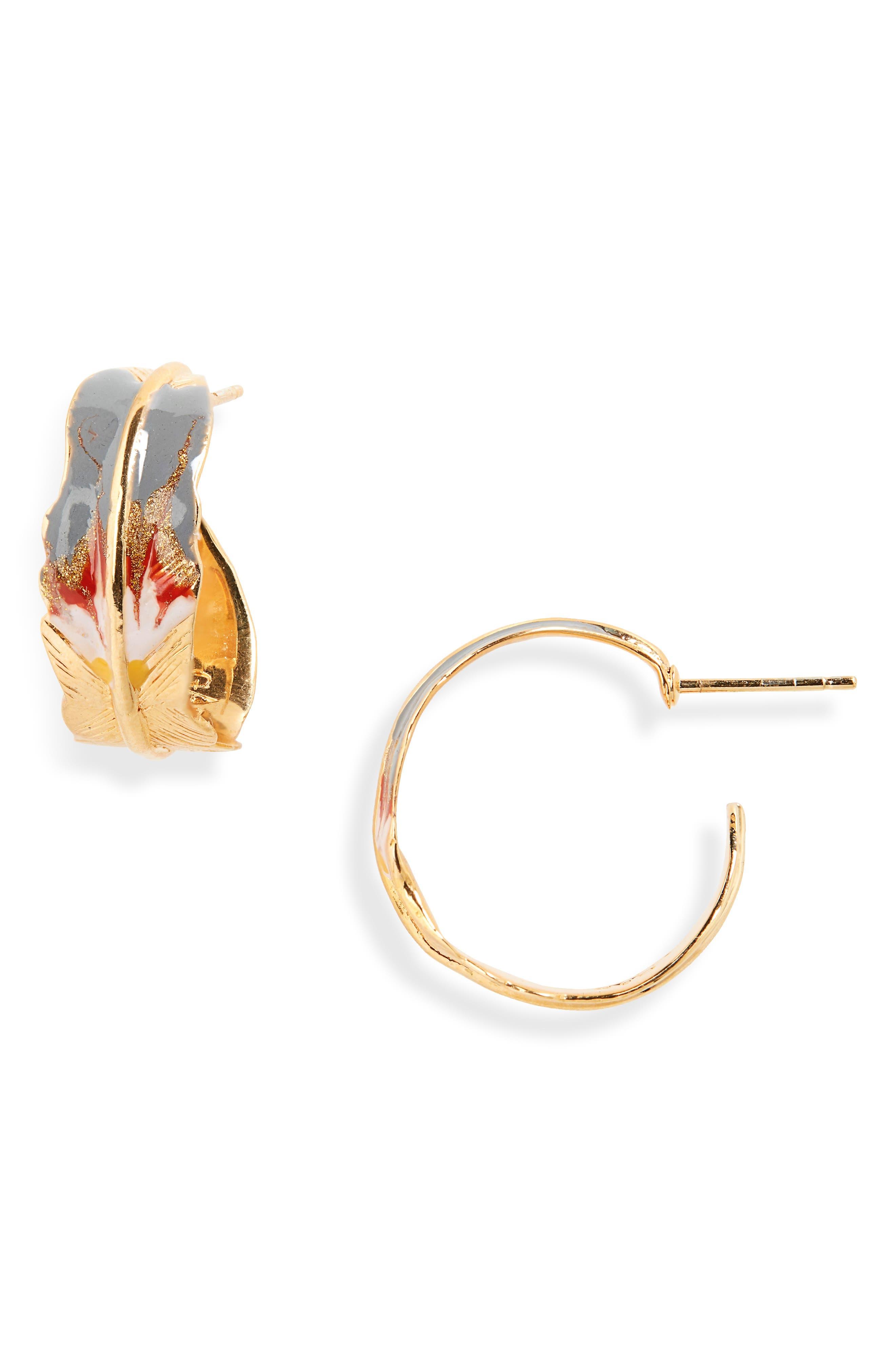 GAS BIJOUX Penna Hoop Earrings in Gold