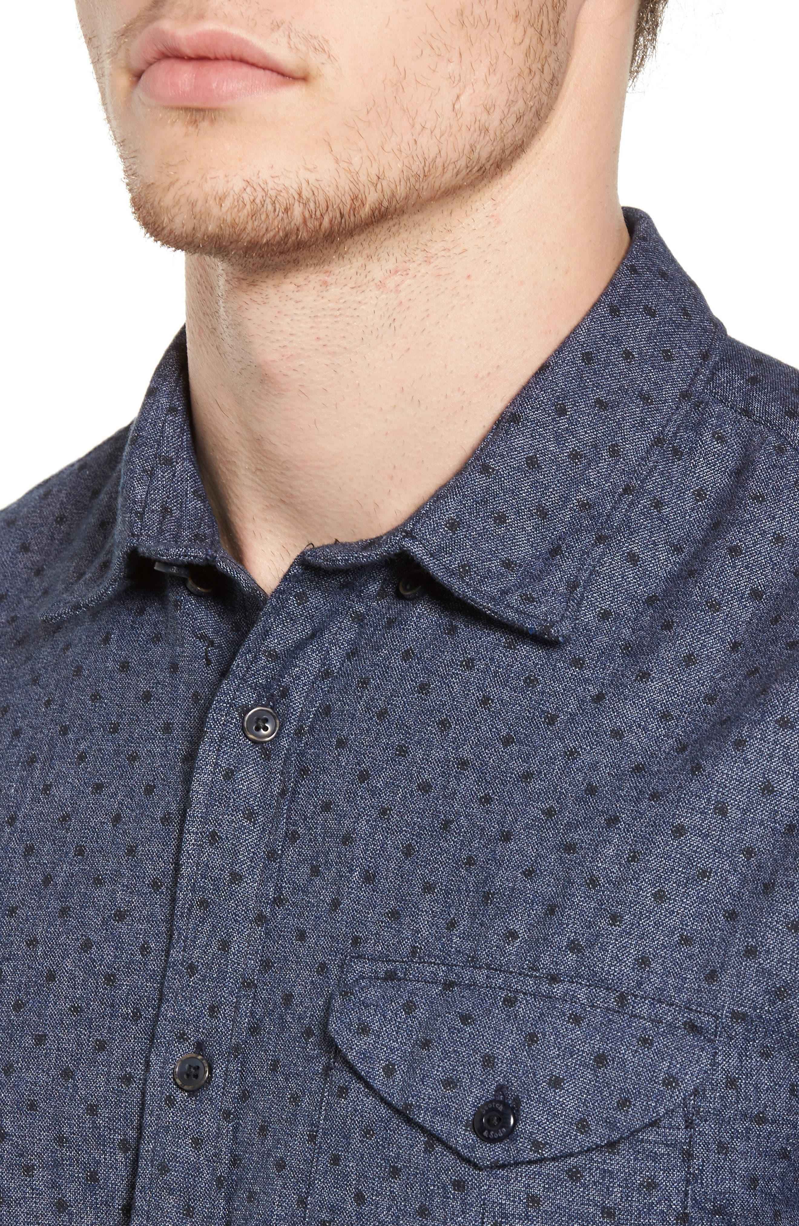 Classic Fit Print Shirt,                             Alternate thumbnail 4, color,                             410