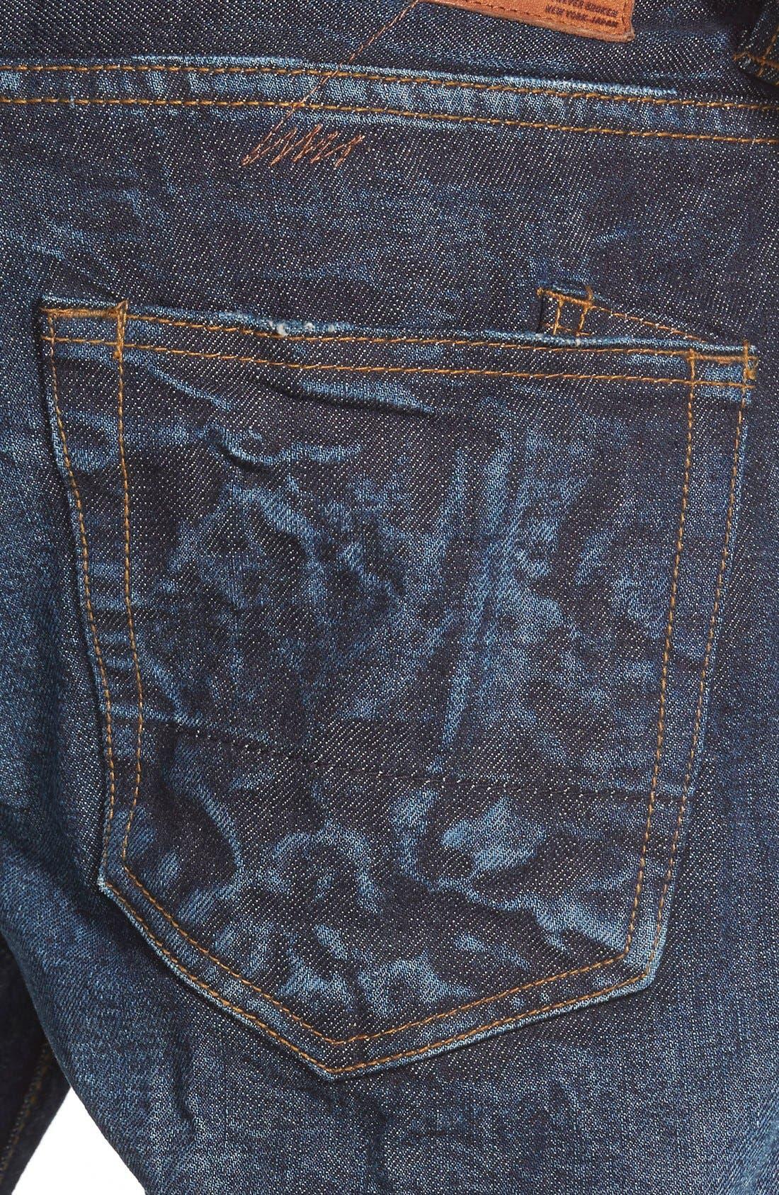 'Barracuda' Straight Leg Selvedge Jeans,                             Alternate thumbnail 5, color,