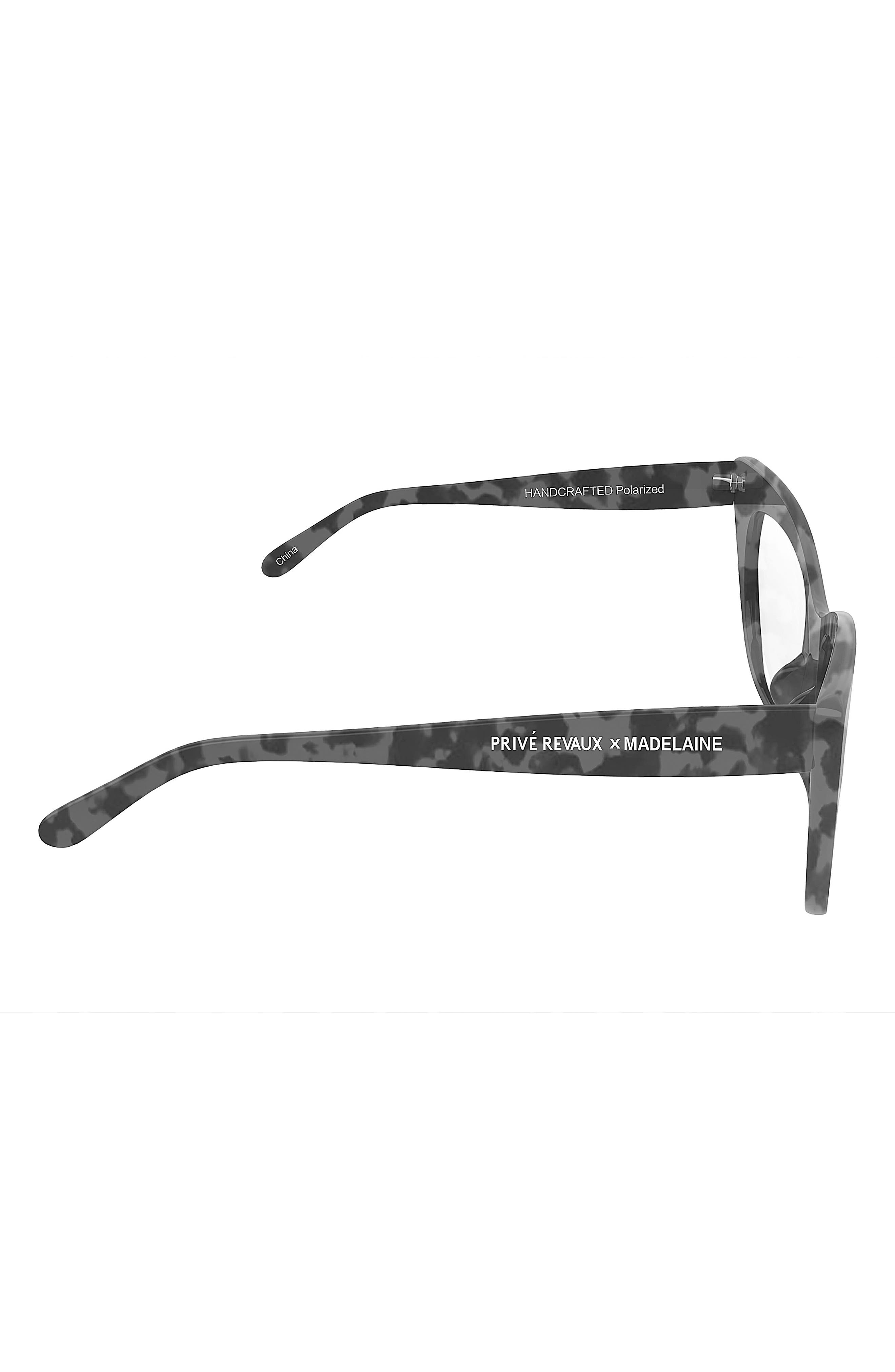 Privé Revaux x Madelaine Petsch The Mister 54mm Cat Eye Sunglasses,                         Main,                         color, 001