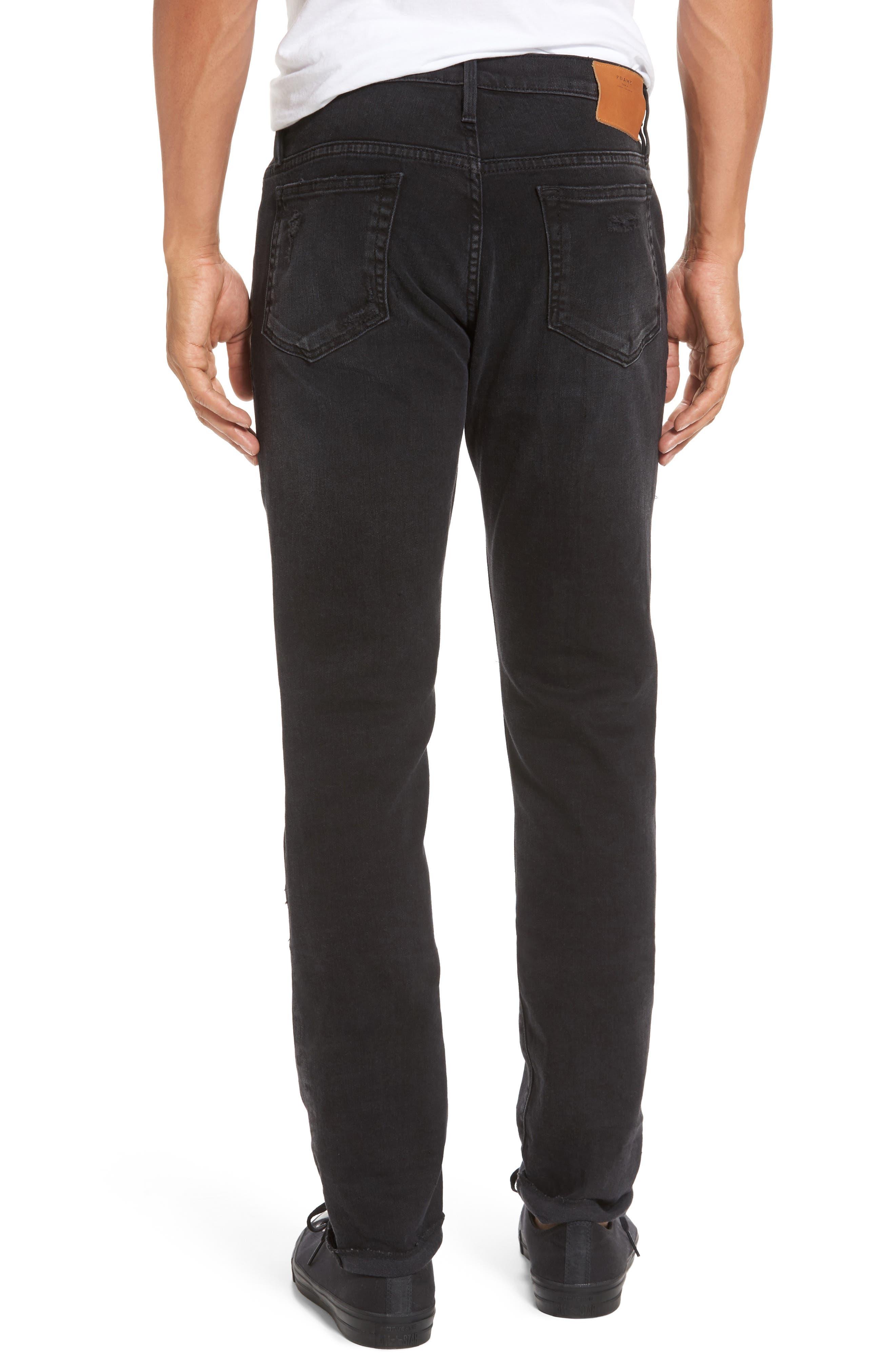 L'Homme Skinny Fit Jeans,                             Alternate thumbnail 2, color,                             001