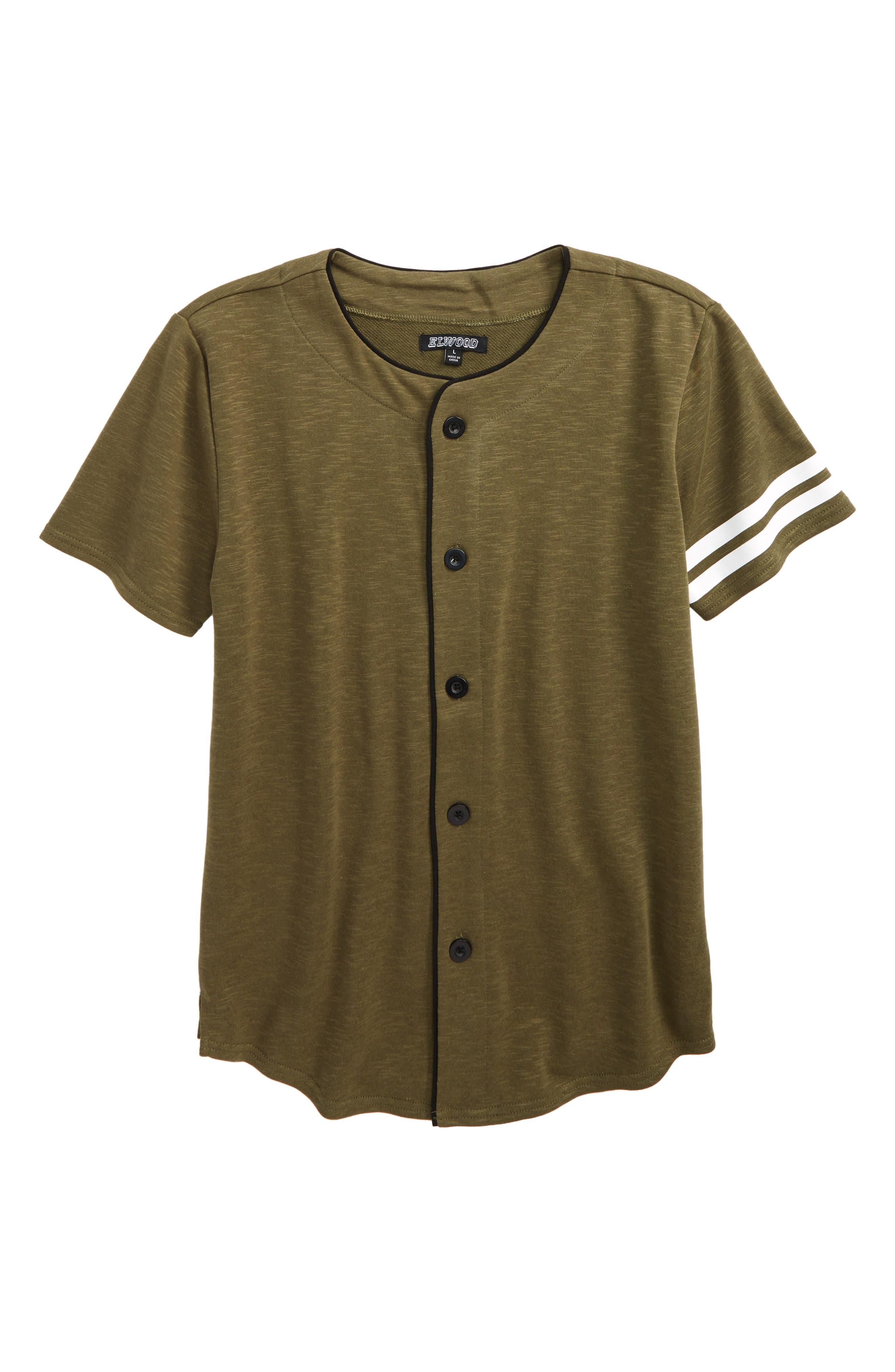 Short Sleeve Baseball Tee,                         Main,                         color,