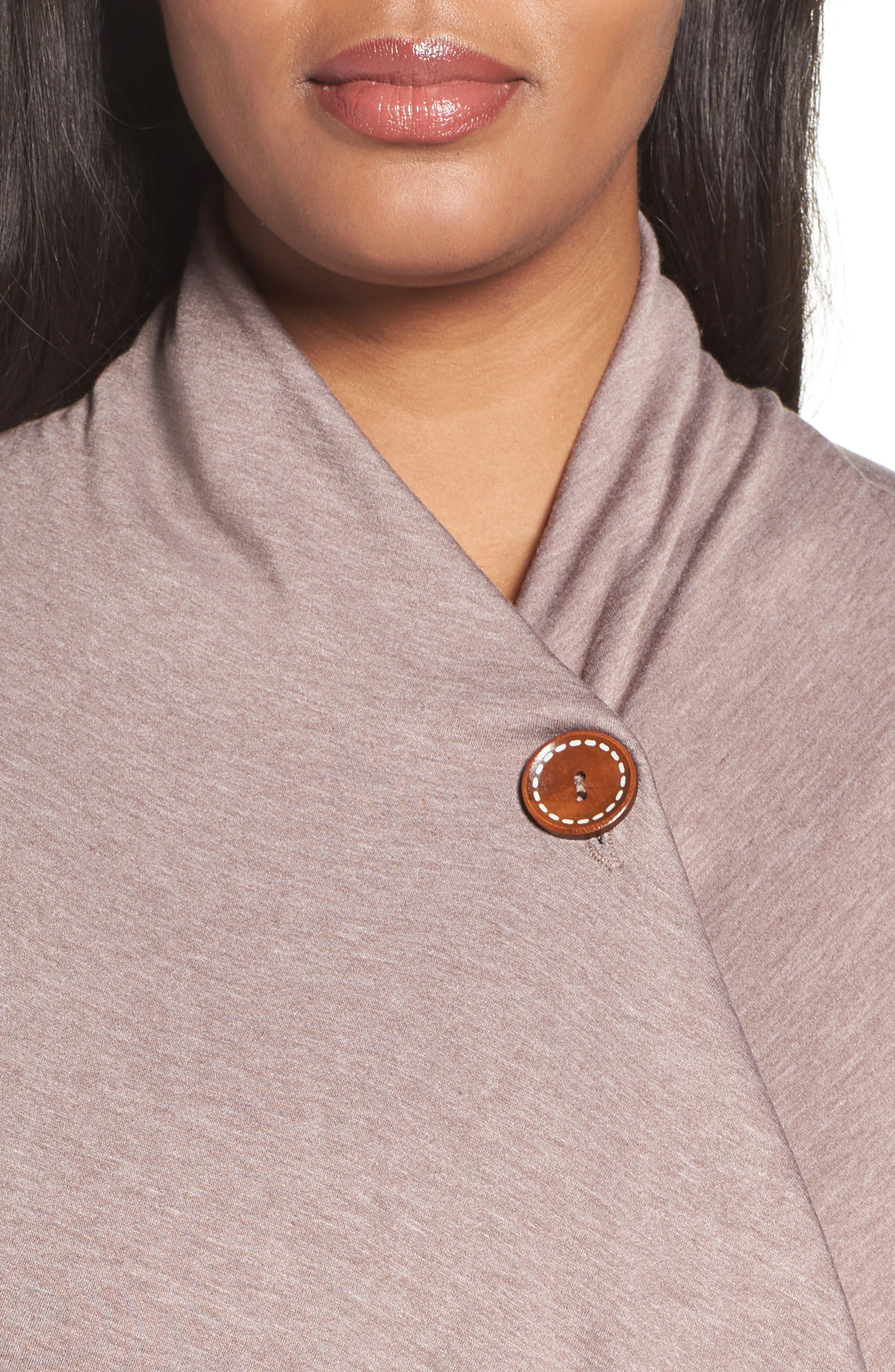 One-Button Fleece Cardigan,                             Alternate thumbnail 176, color,