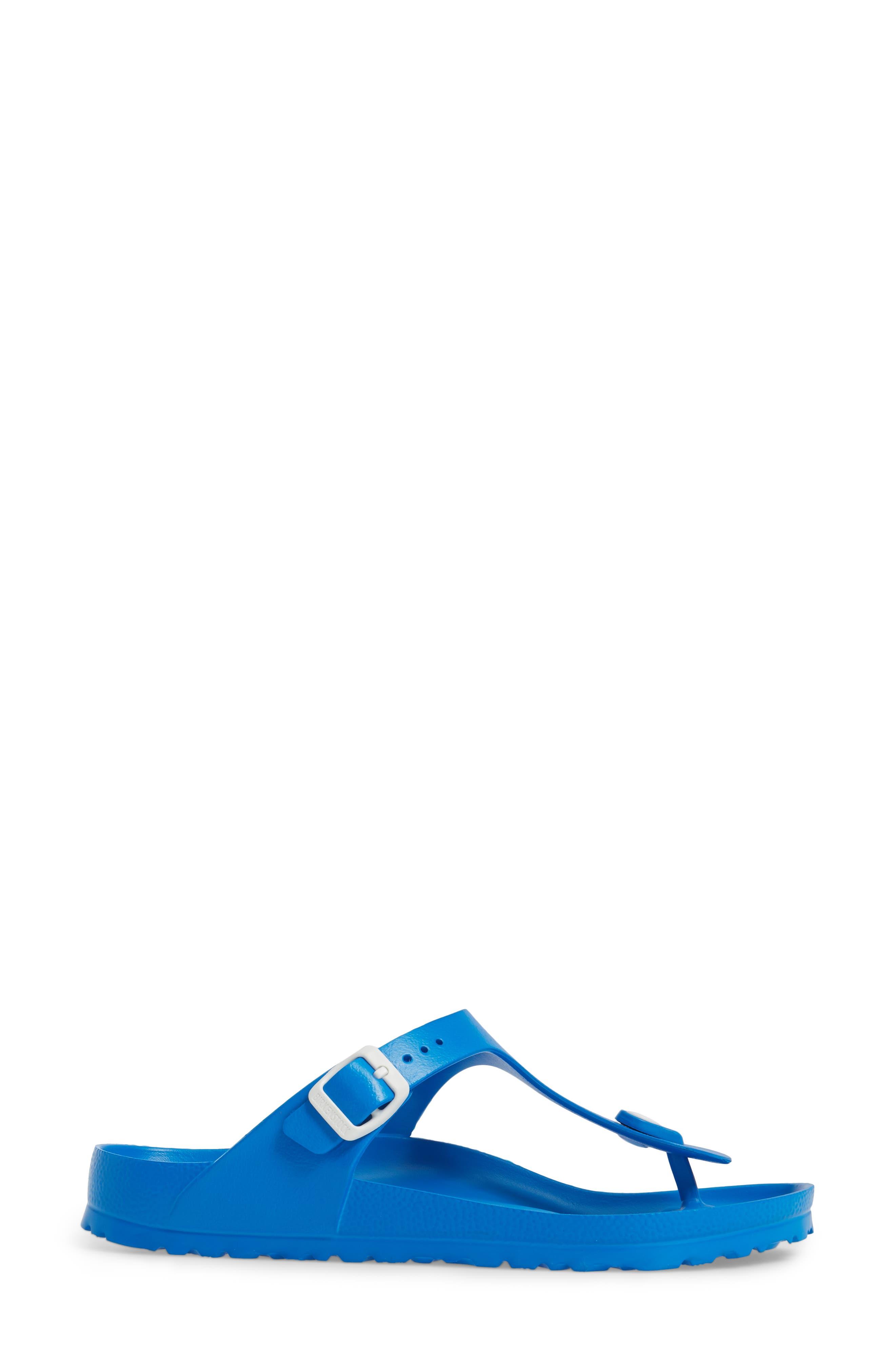Essentials - Gizeh Flip Flop,                             Alternate thumbnail 3, color,                             SCUBA BLUE